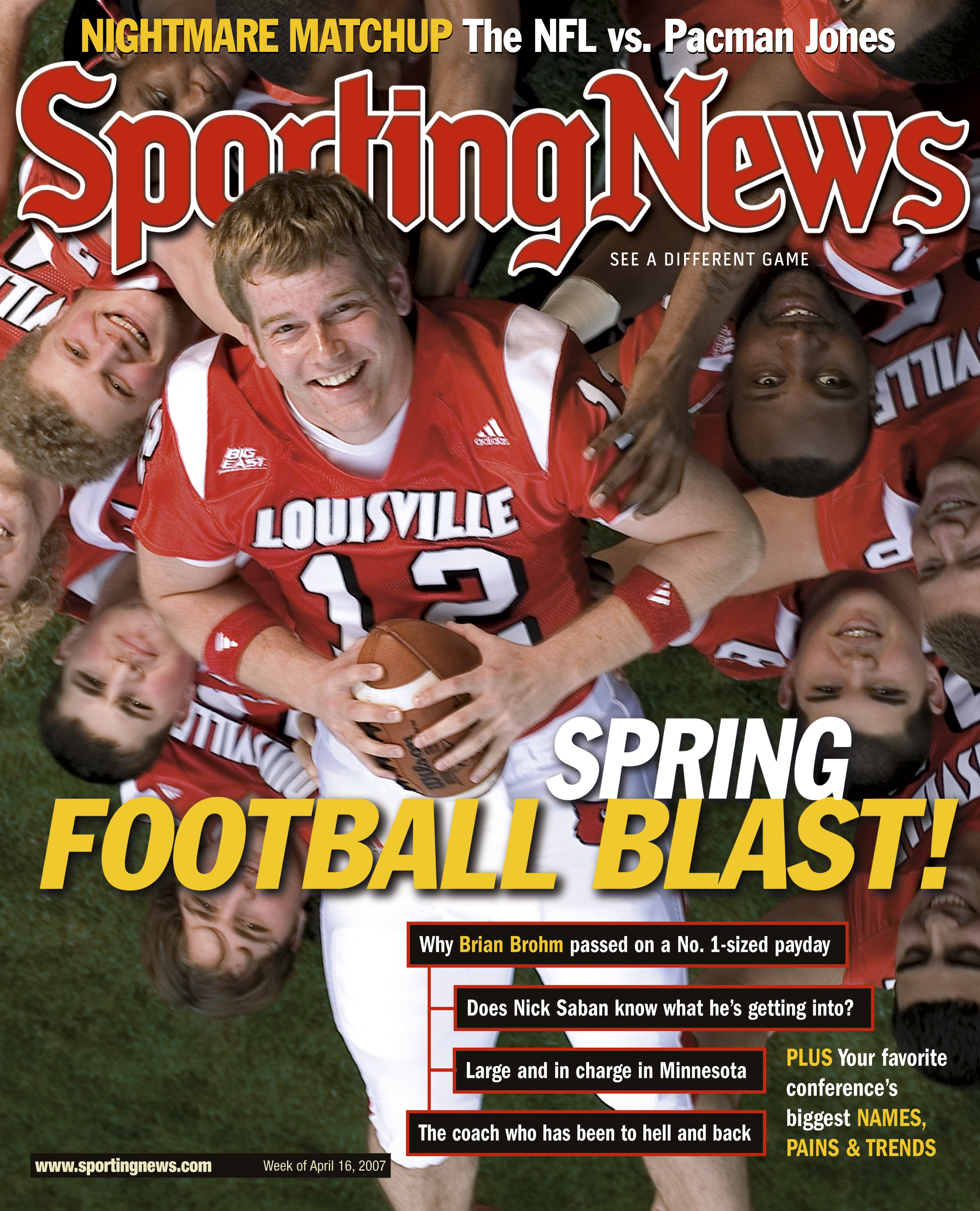 NCAA Football Covers - Louisville Cardinals QB Brian Brohm - April 16, 2007