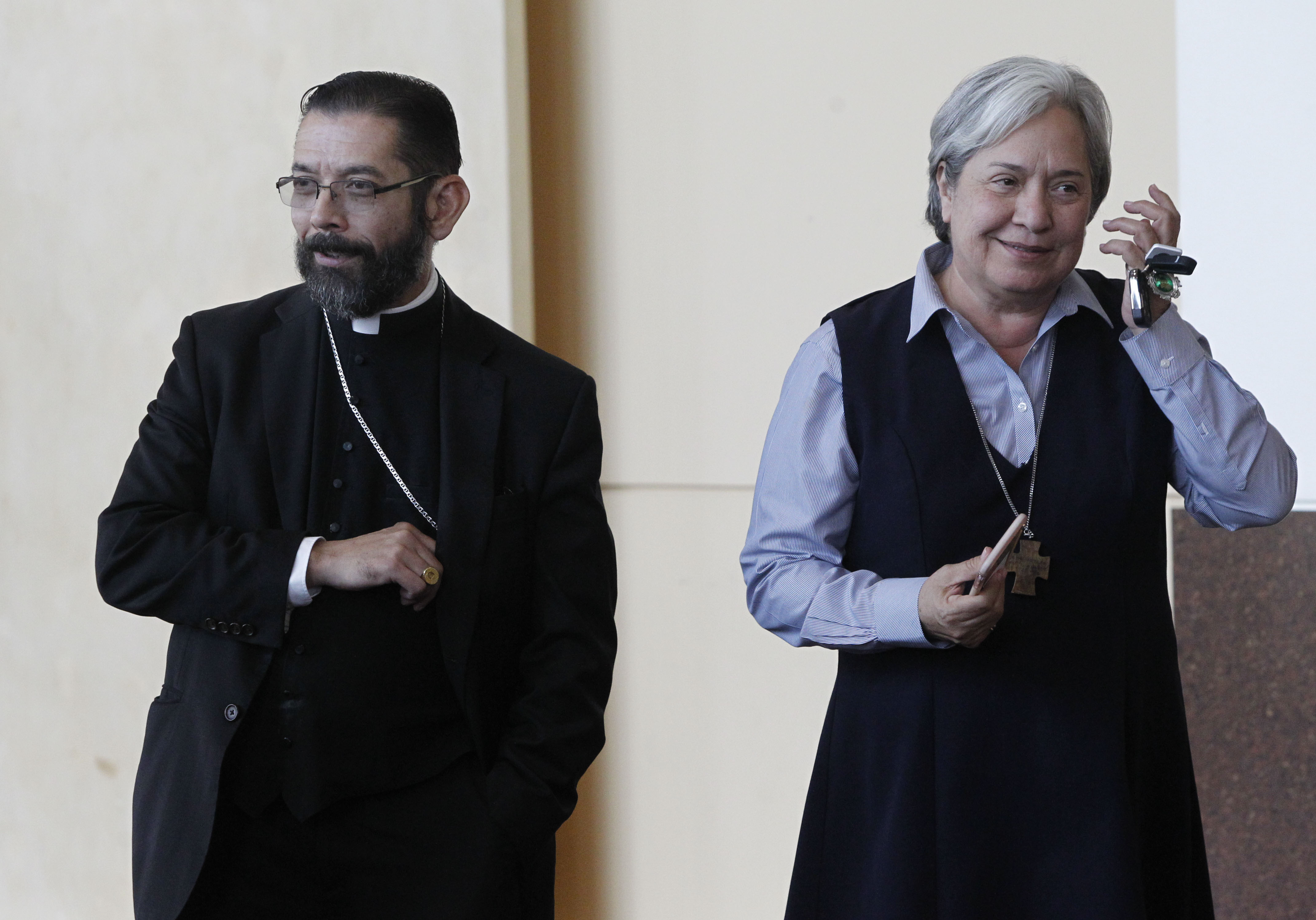 Bishop Daniel E. Flores and sister Norma Pimentel, pictured in this 2017 file photo in McAllen, Texas.
