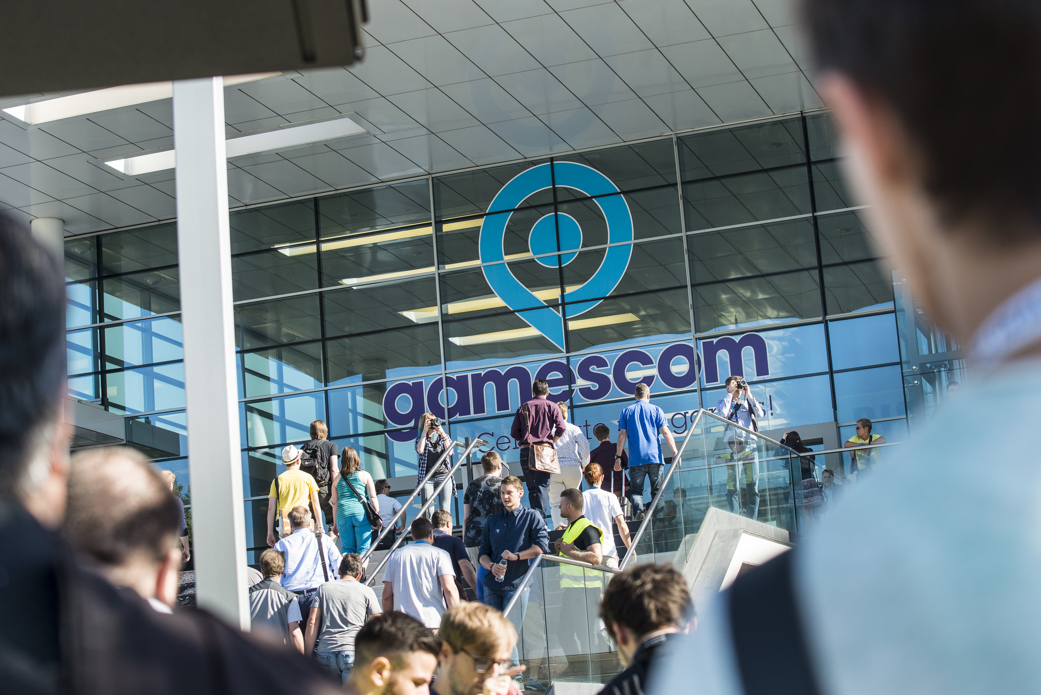 A photo of the Kolnmesse convention center from Gamescom 2016