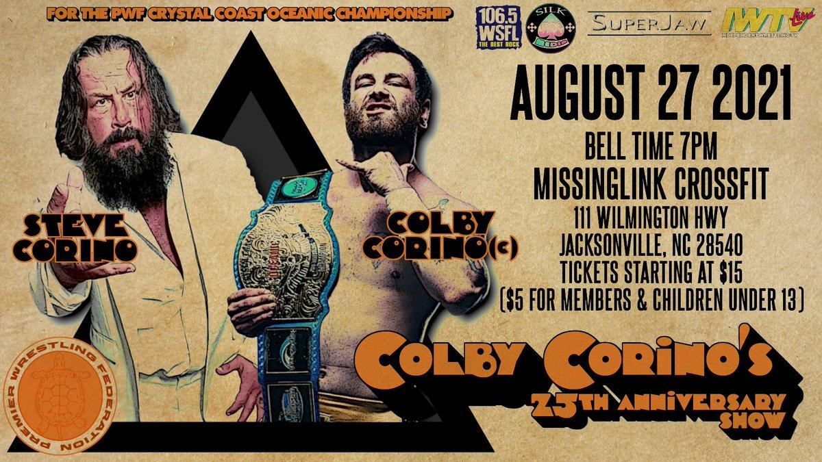 Match graphic for Steve Corino vs. Colby Corino at PWF