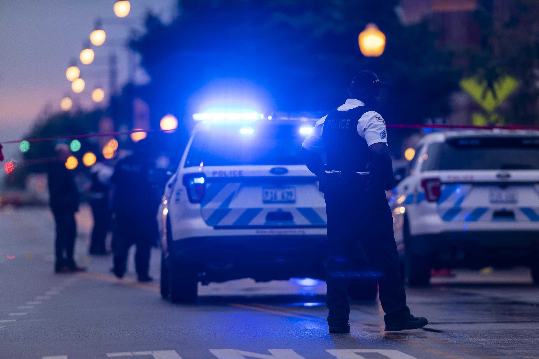 Chicago mass shooting scene