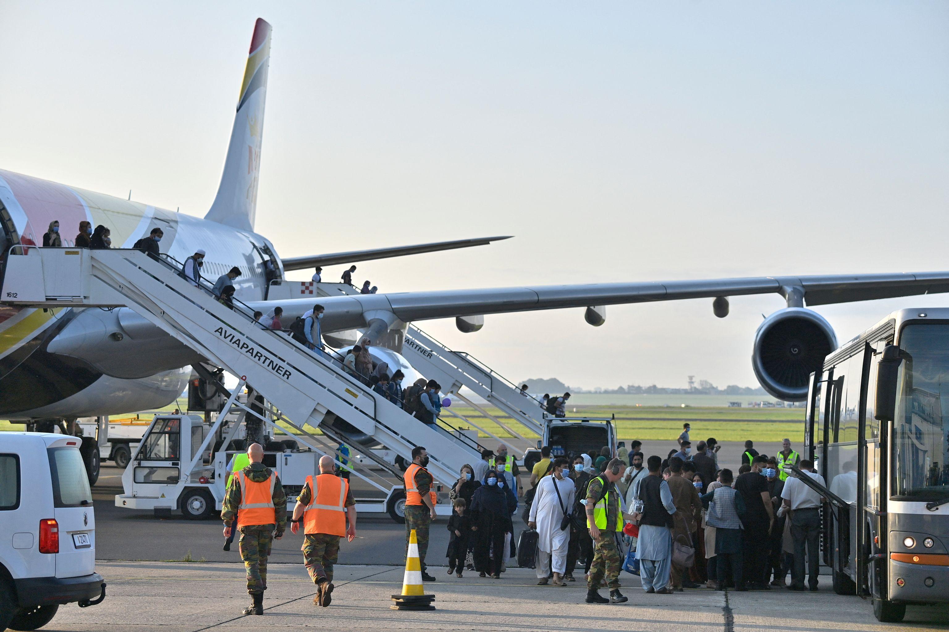 Afghanistan evacuation flight