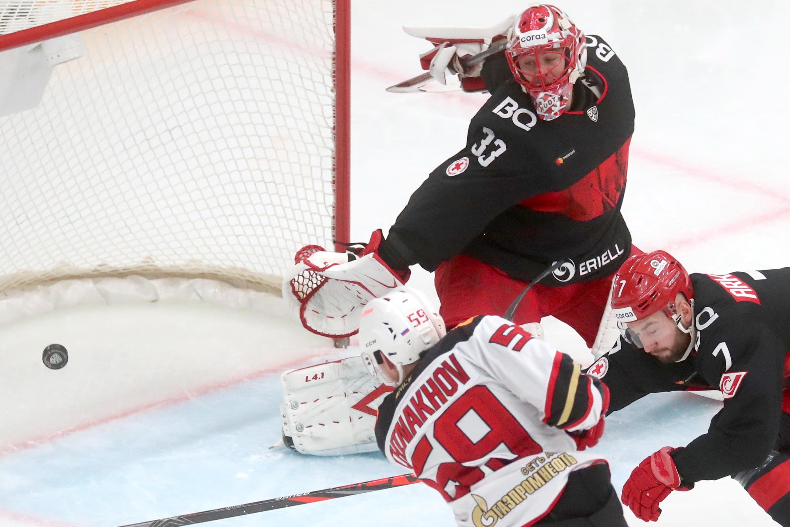 2020/2021 Kontinental Hockey League Spartak Moscow vs Avangard Omsk