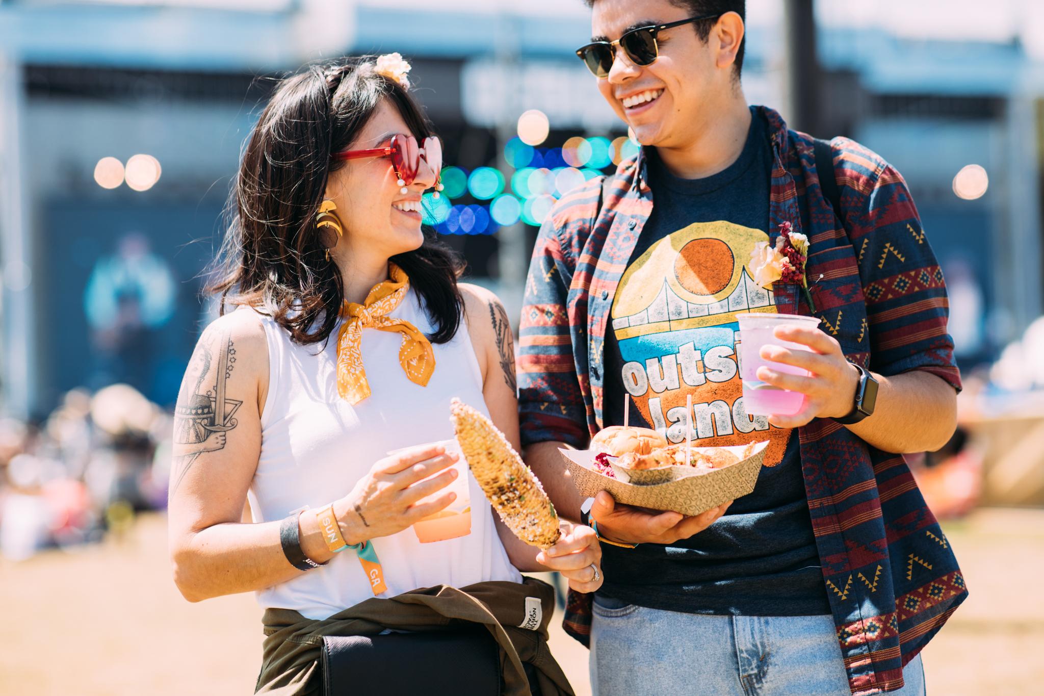 Outside Lands festival goers enjoy food and drink