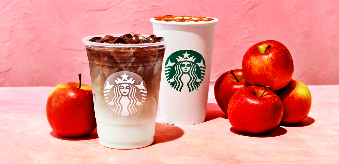 The Apple Crisp Macchiato, an espresso beverage available hot or iced topped, debuted this week at Starbucks.