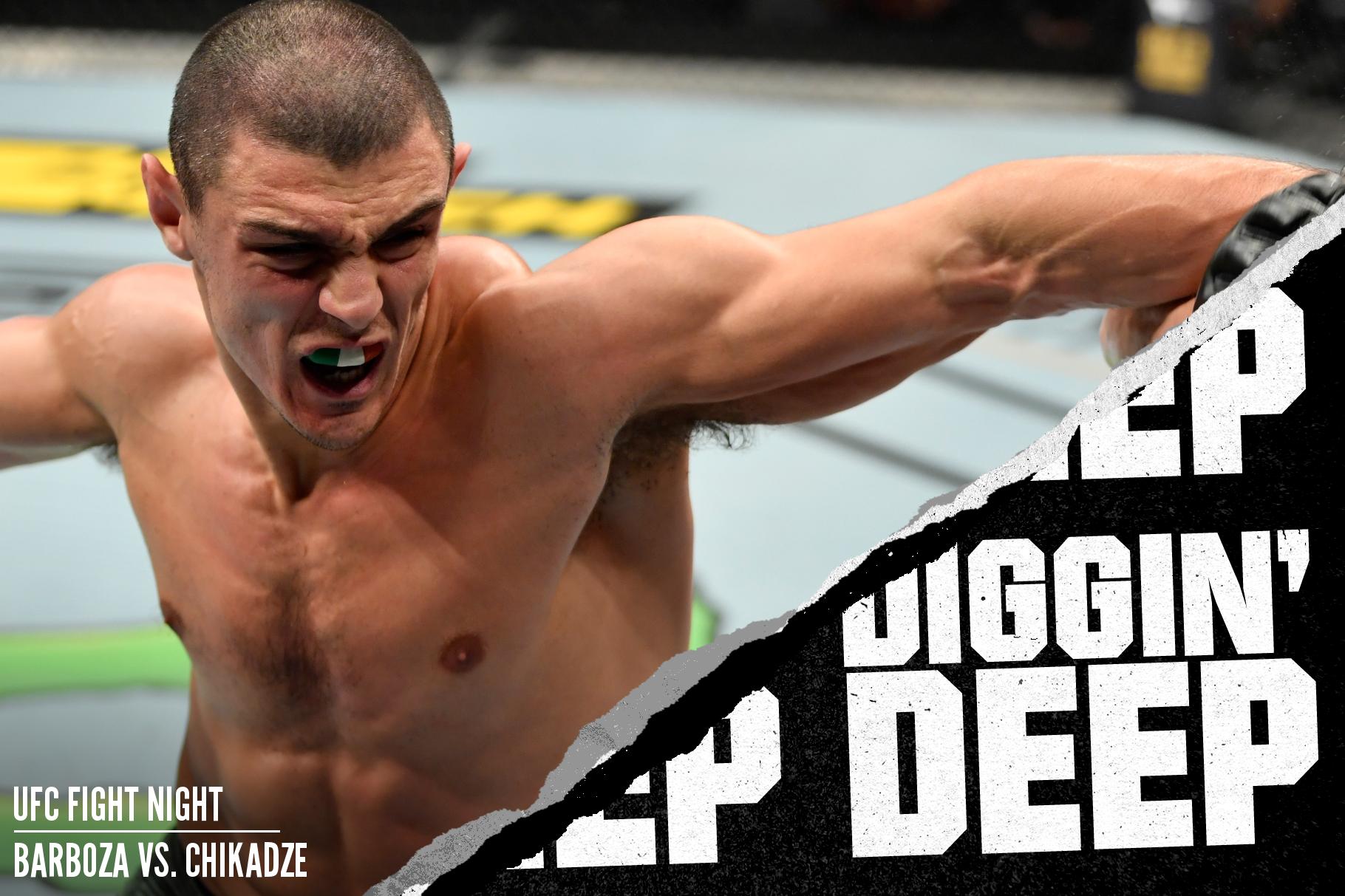 Alessio Di Chirico fighting Makhmud Muradov at UFC Copenhagen