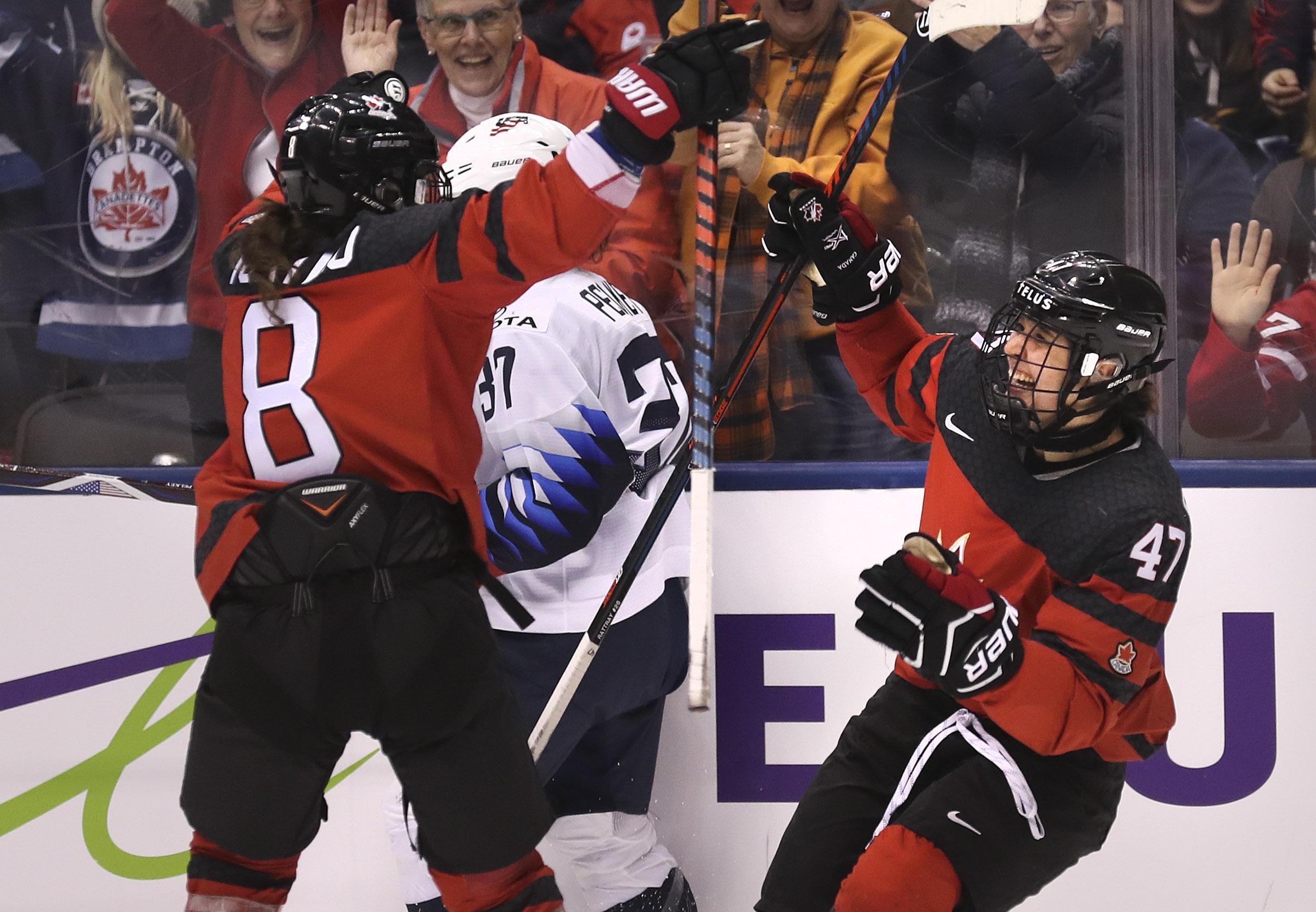 Canada vs USA women't hockey