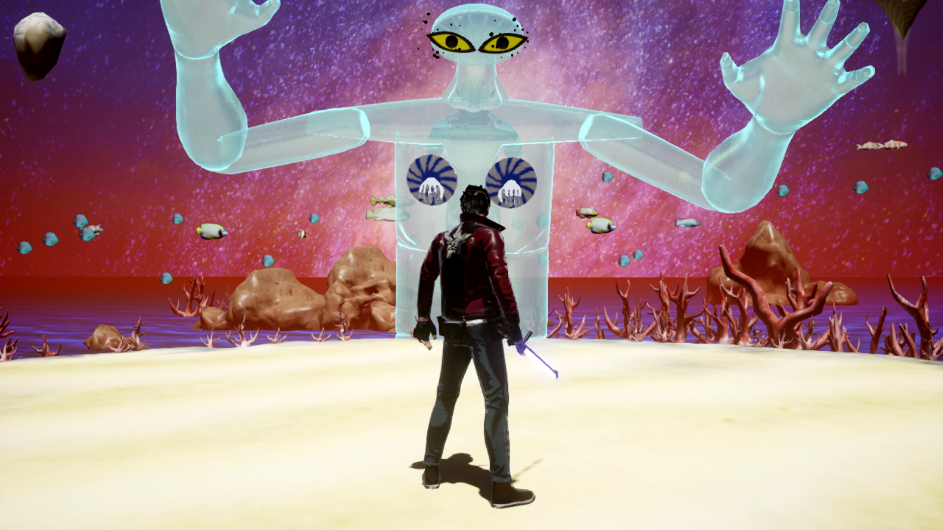 The Sonic Juice boss battle from No More Heroes 3