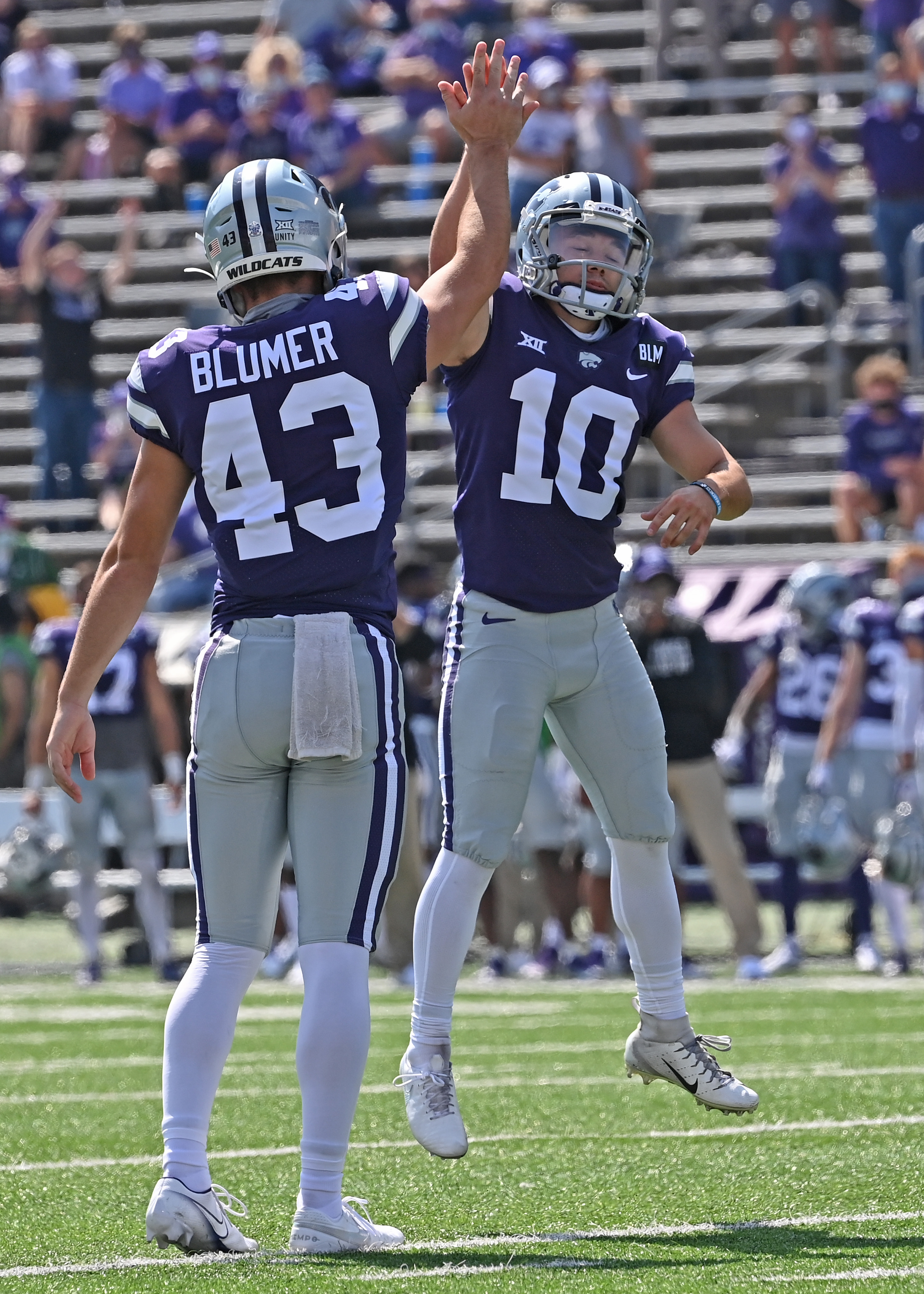 #43 Jack Blumer and #10 Blake Lynch