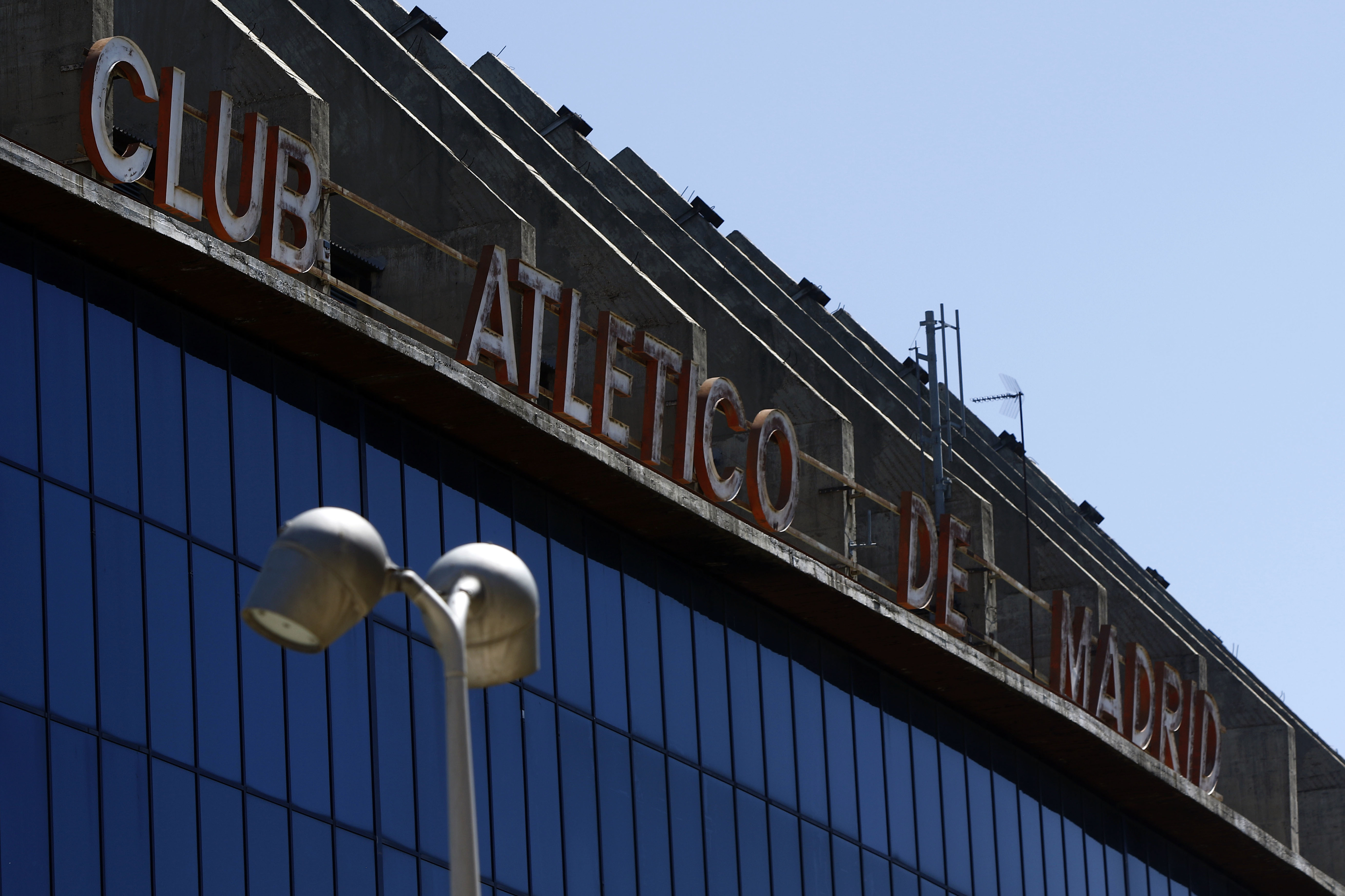 Appearance of the facade of the football stadium 'Vicente...