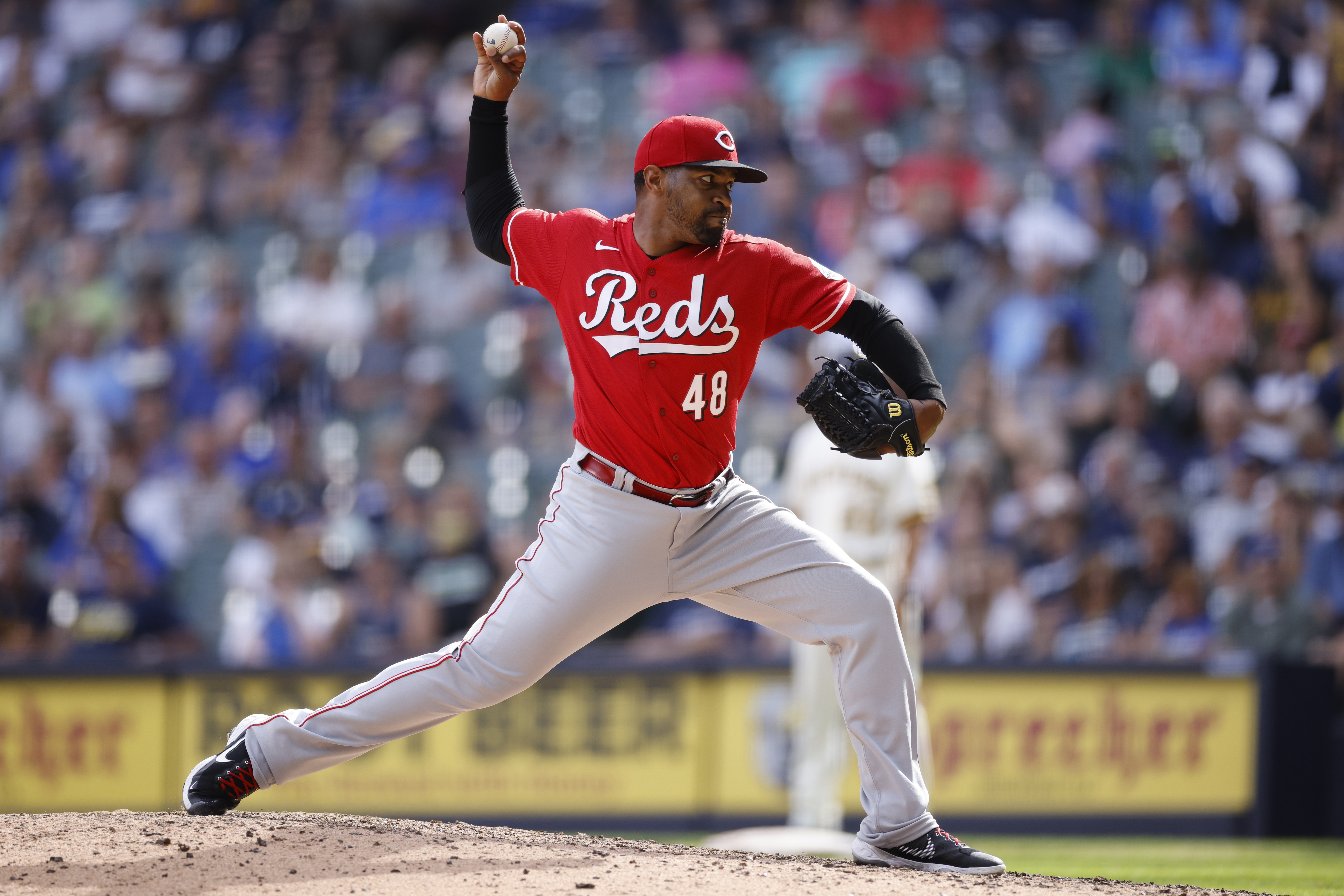 MLB: AUG 26 Reds at Brewers