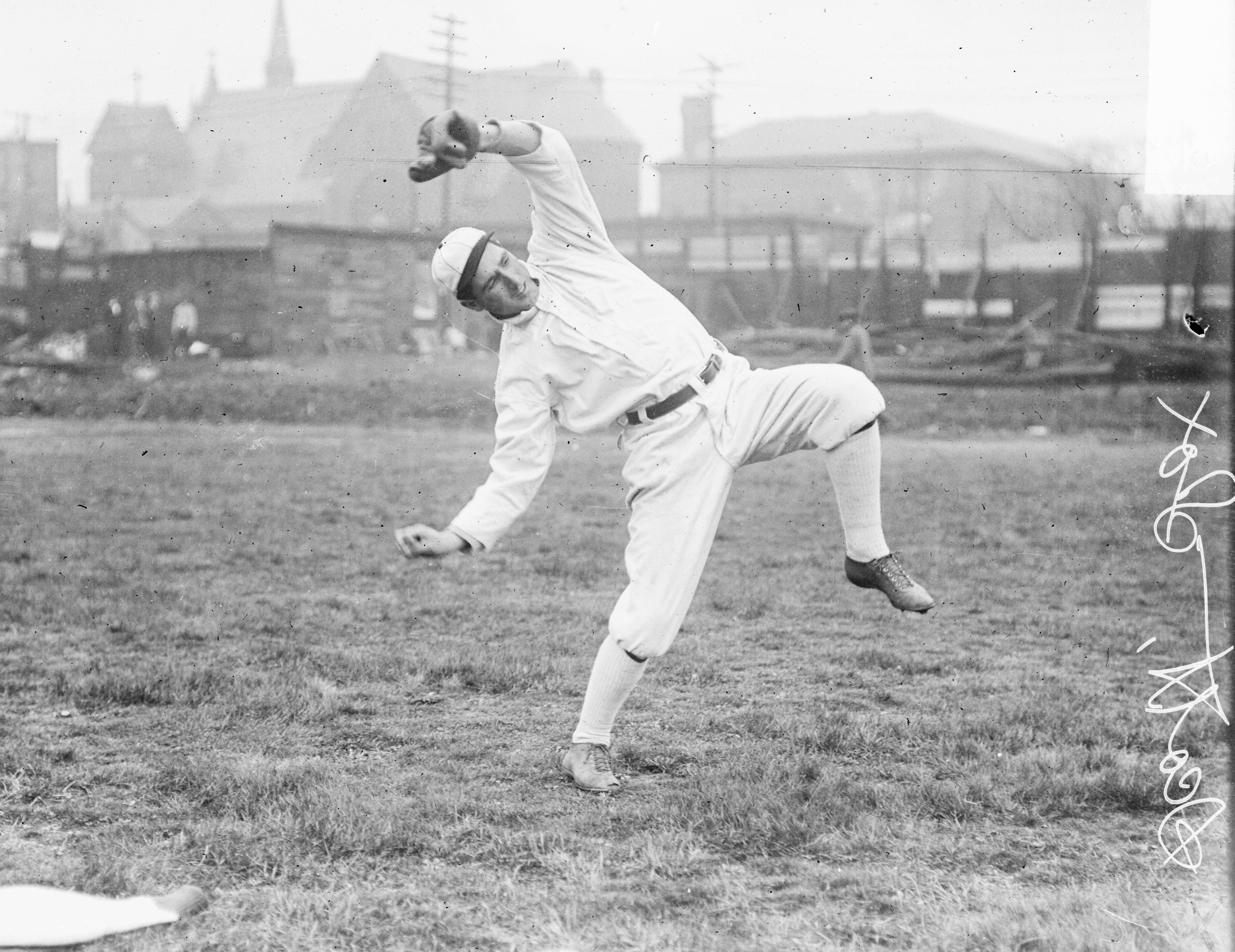 Jim Scott Warms Up For The White Sox