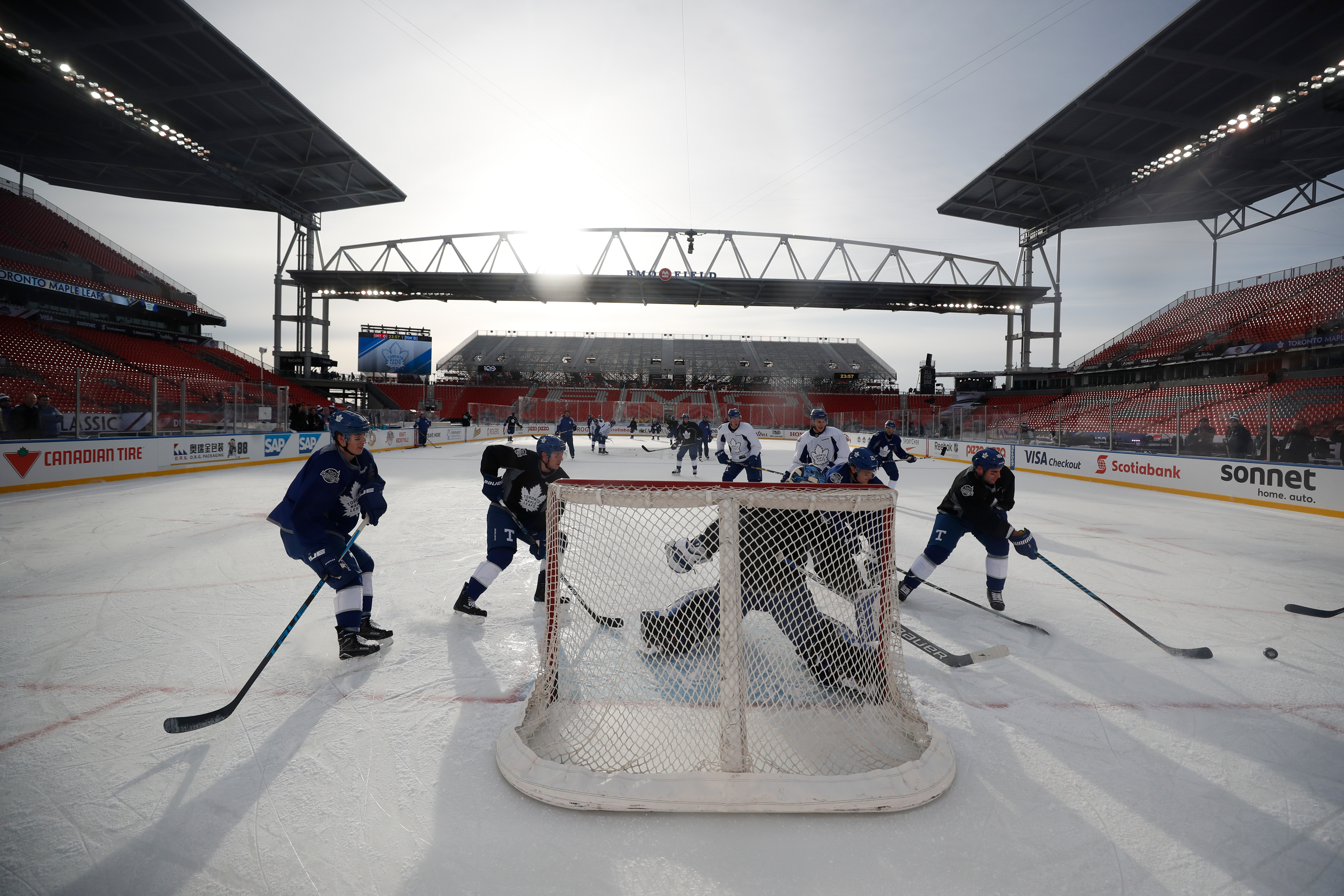 2017 Scotiabank NHL Centennial Classic - Maple Leafs Practice