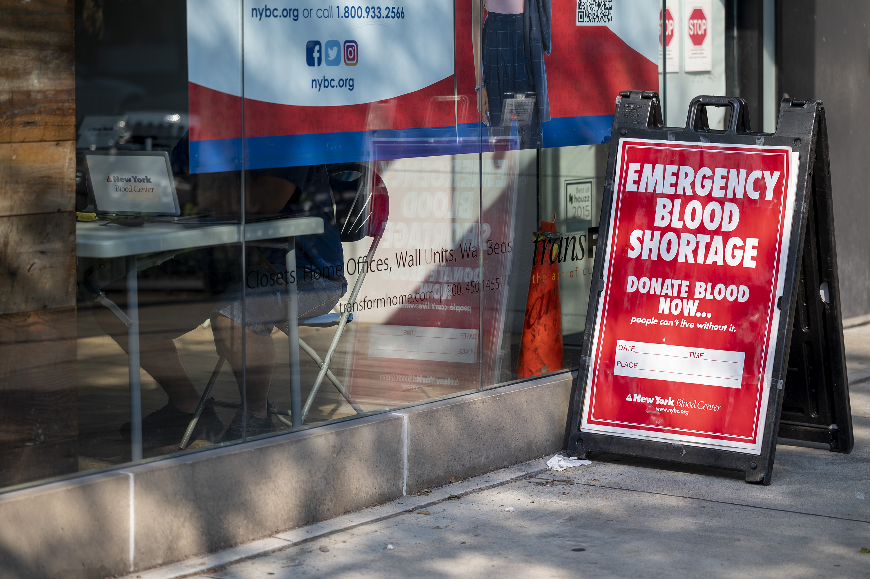 New York Blood Center is urging donations, including at a new center in downtown Brooklyn.