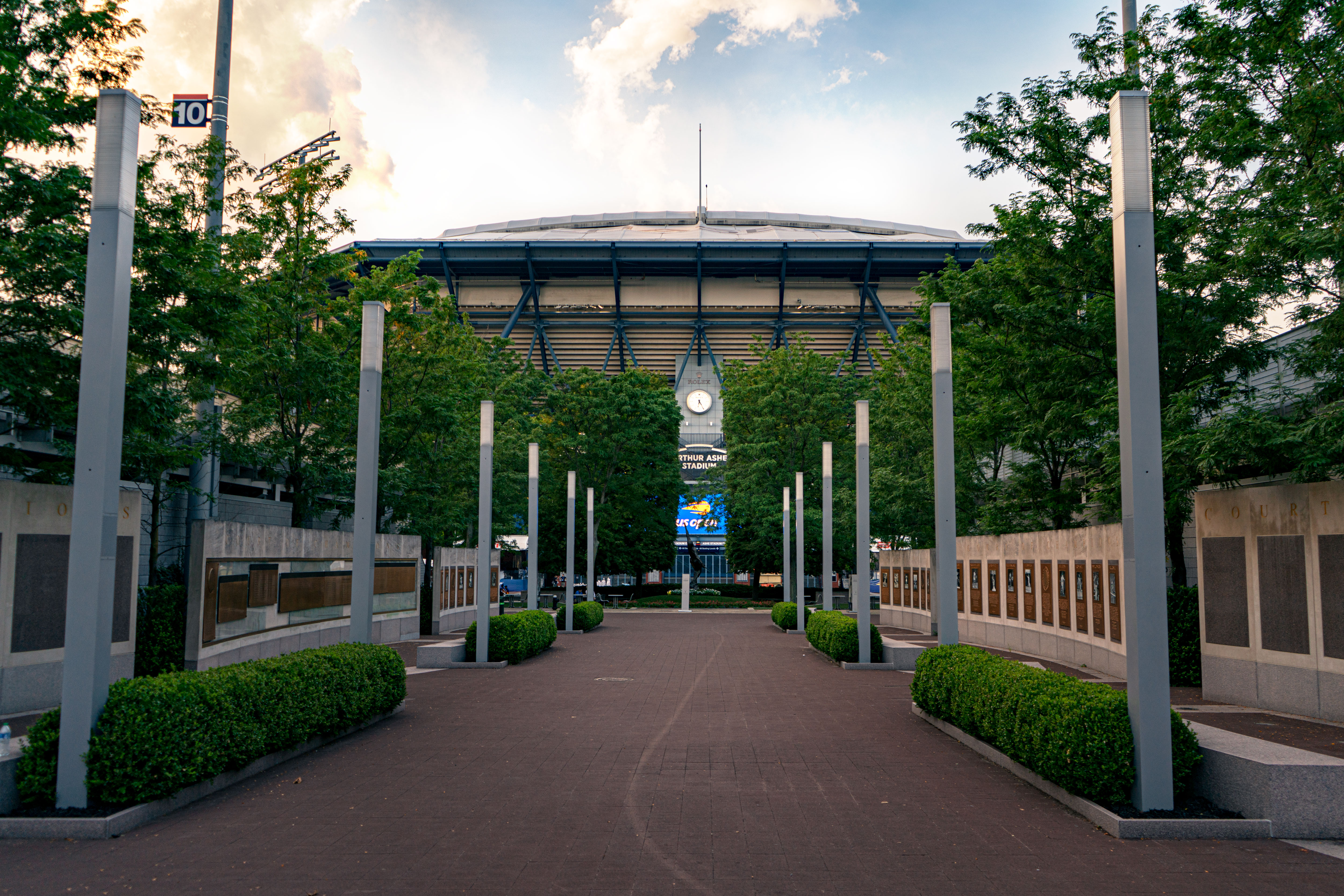 Arthur Ashe stadium site of the US Open in Flushing Meadows, Queens on August 26, 2021