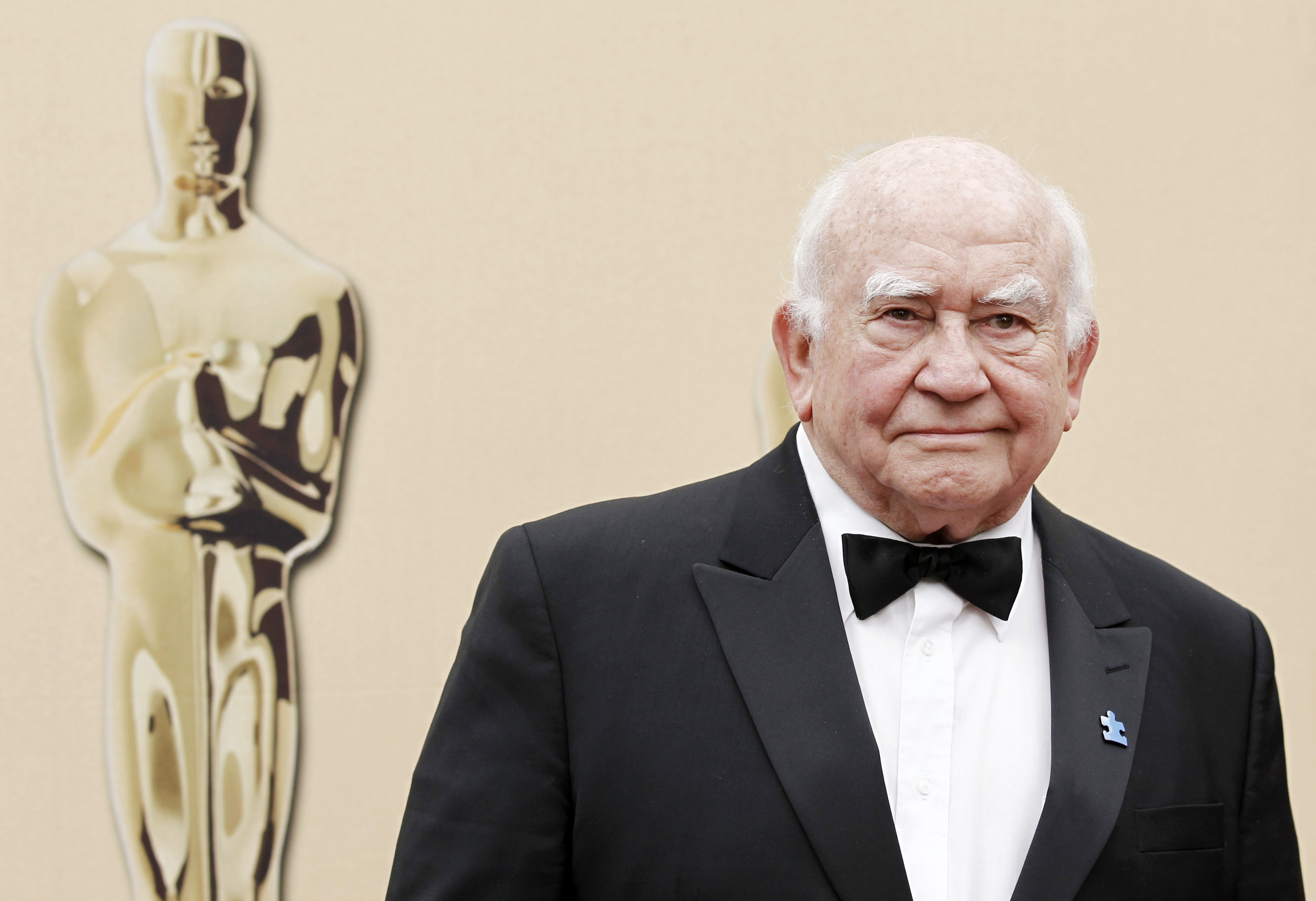 Actor Ed Asner arrives during the 82nd Academy Awards in Los Angeles.