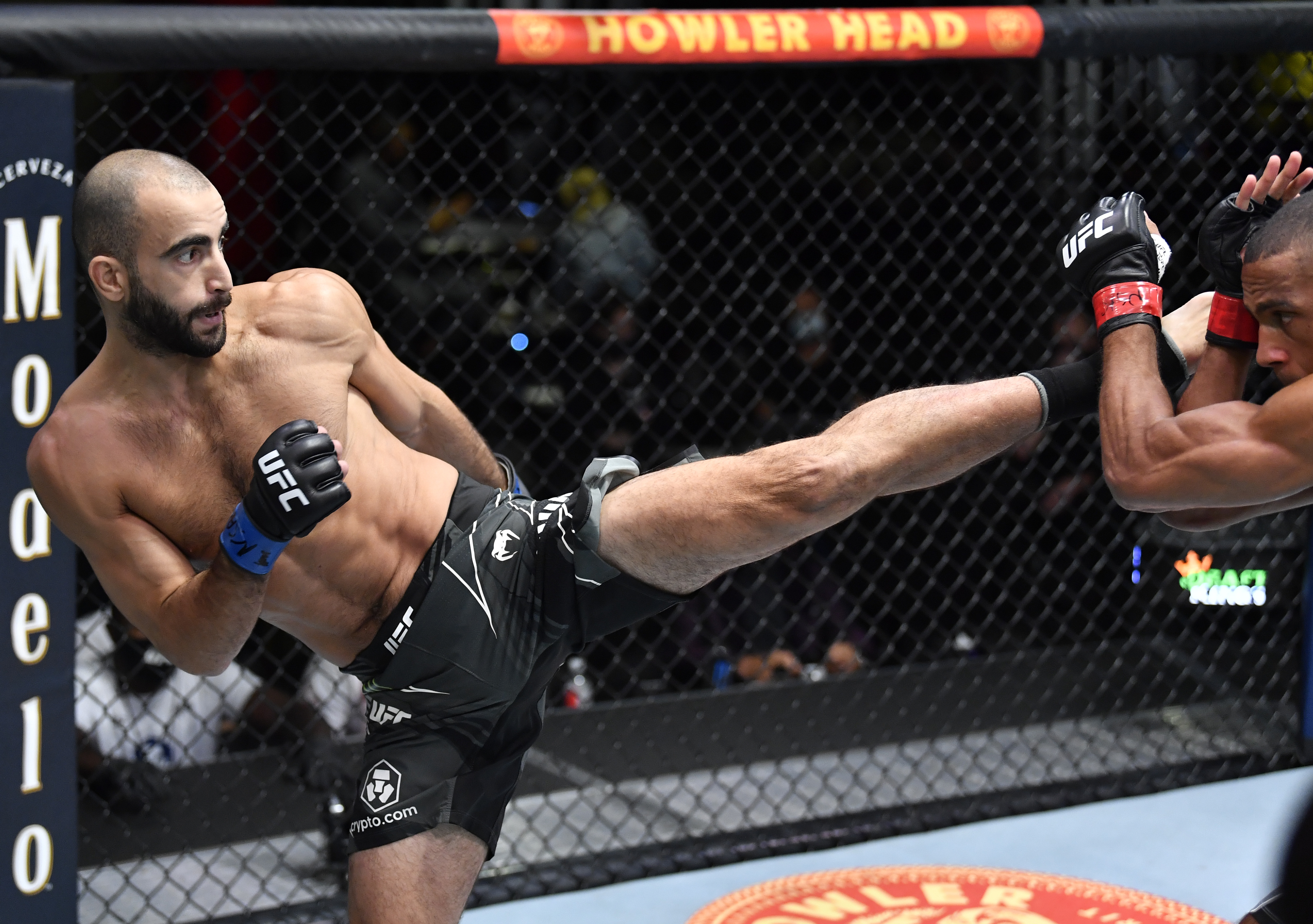 Giga Chikadze after his fight with Edson Barboza at UFC Vegas 35.