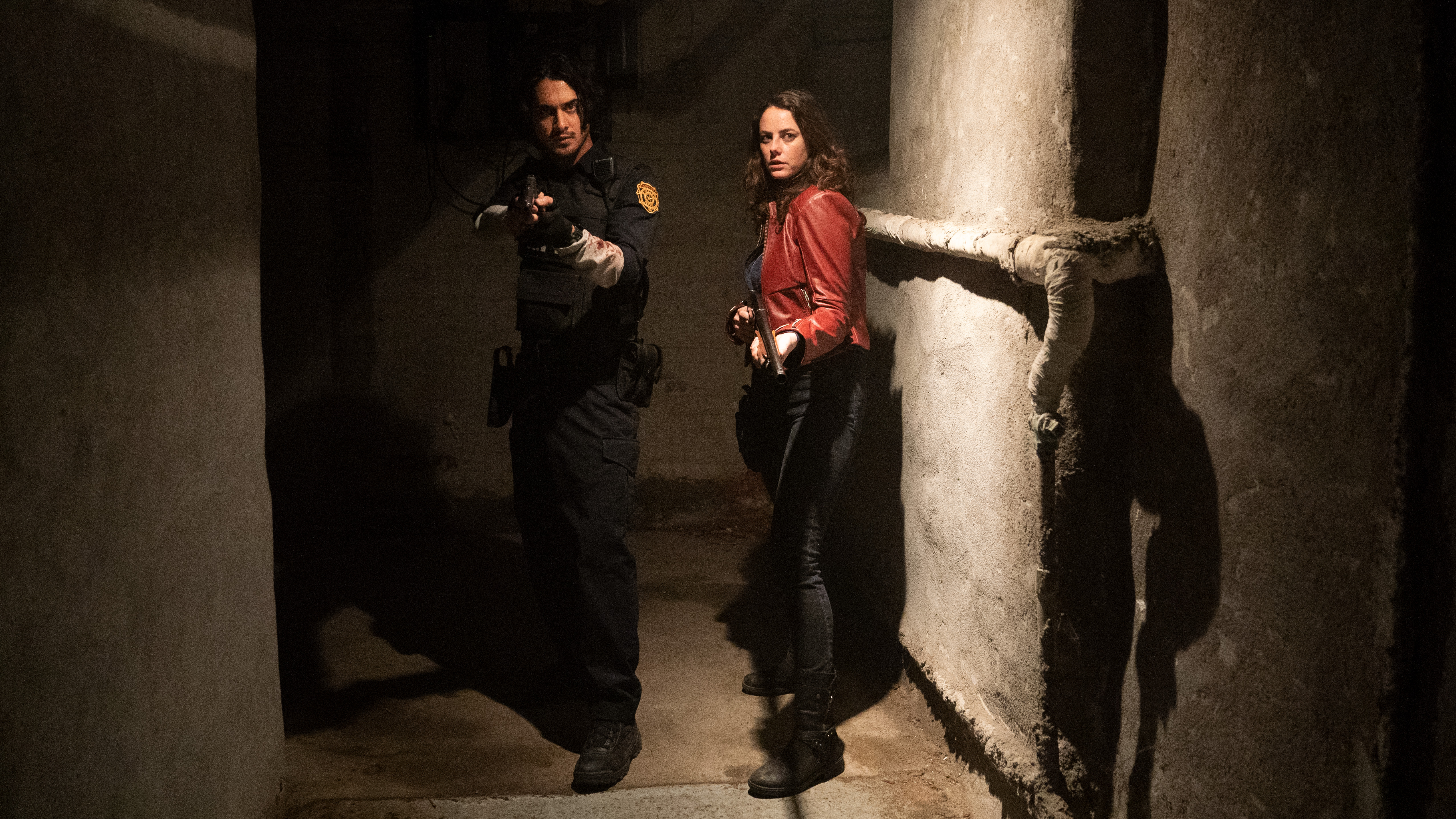 Claire Redfield and Leon S. Kennedy from the Resident Evil: Welcome to Raccoon City movie