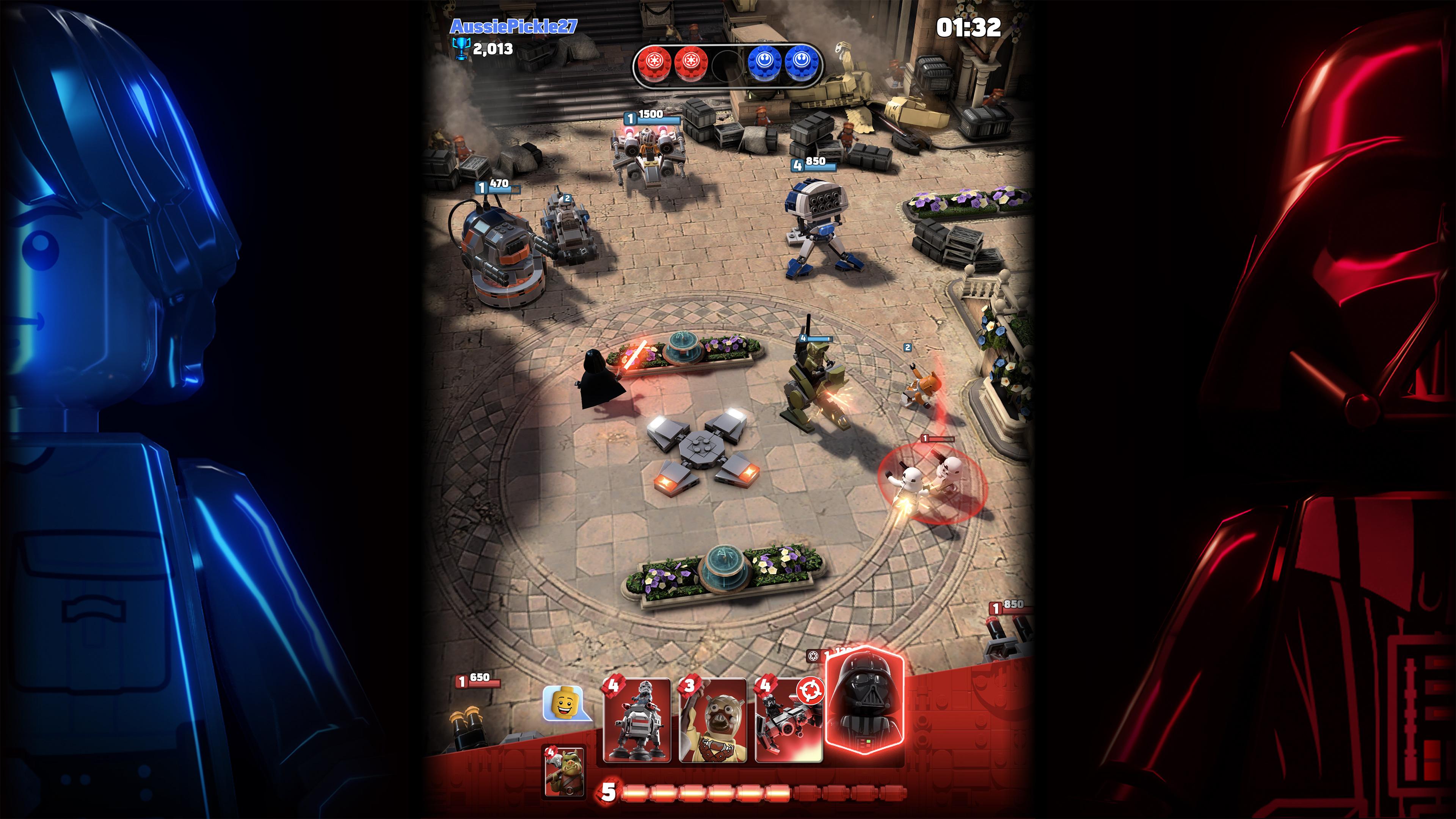 a screenshot from Lego Star Wars Battles