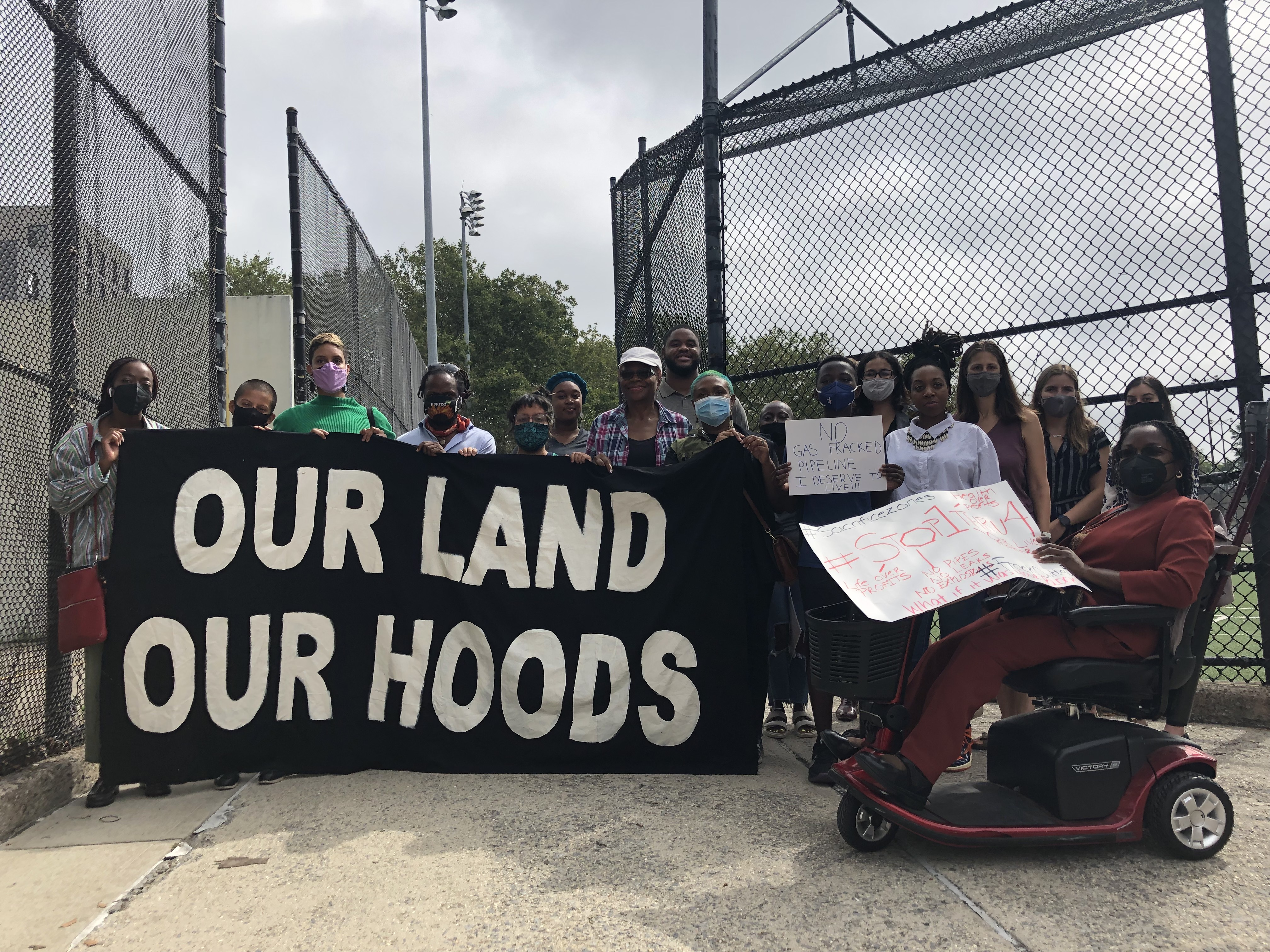 Brooklyn community groups appealed to federal agencies to investigate a National Grid gas pipeline running through Brownsville, Ocean Hill, Bushwick and East Williamsburg, Aug. 30, 2021.