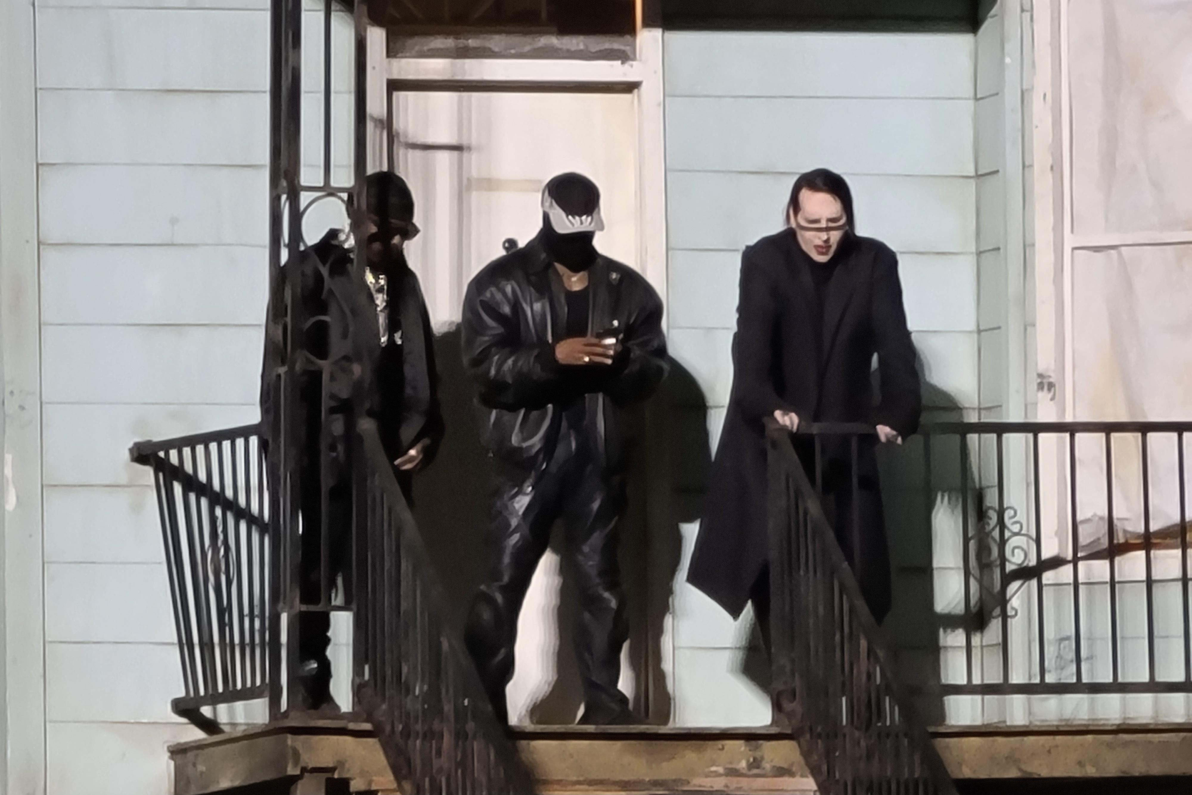 Kanye West, DaBaby, Marilyn Manson