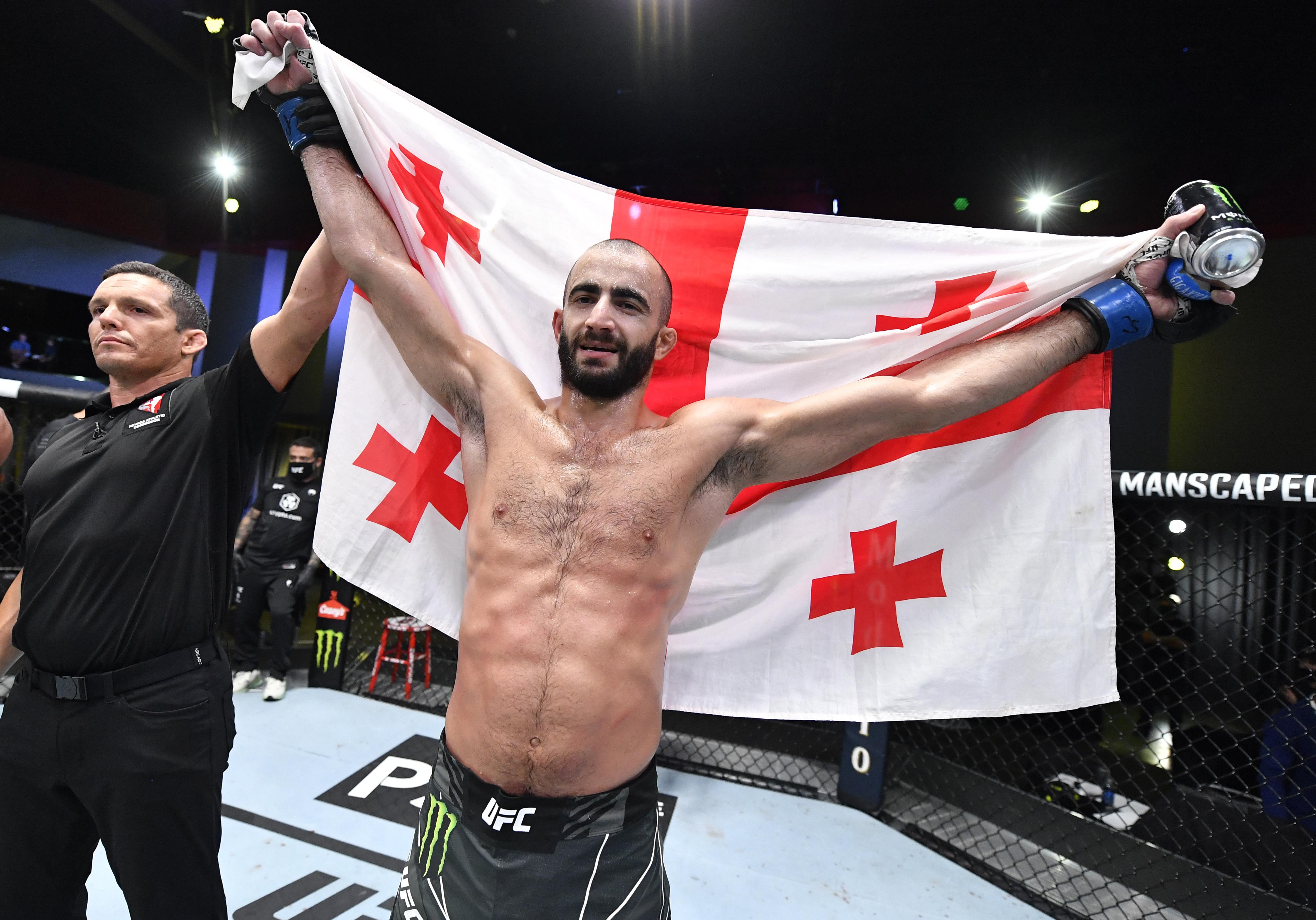 Giga Chikadze knocked out Edson Barboza at UFC Vegas 35.