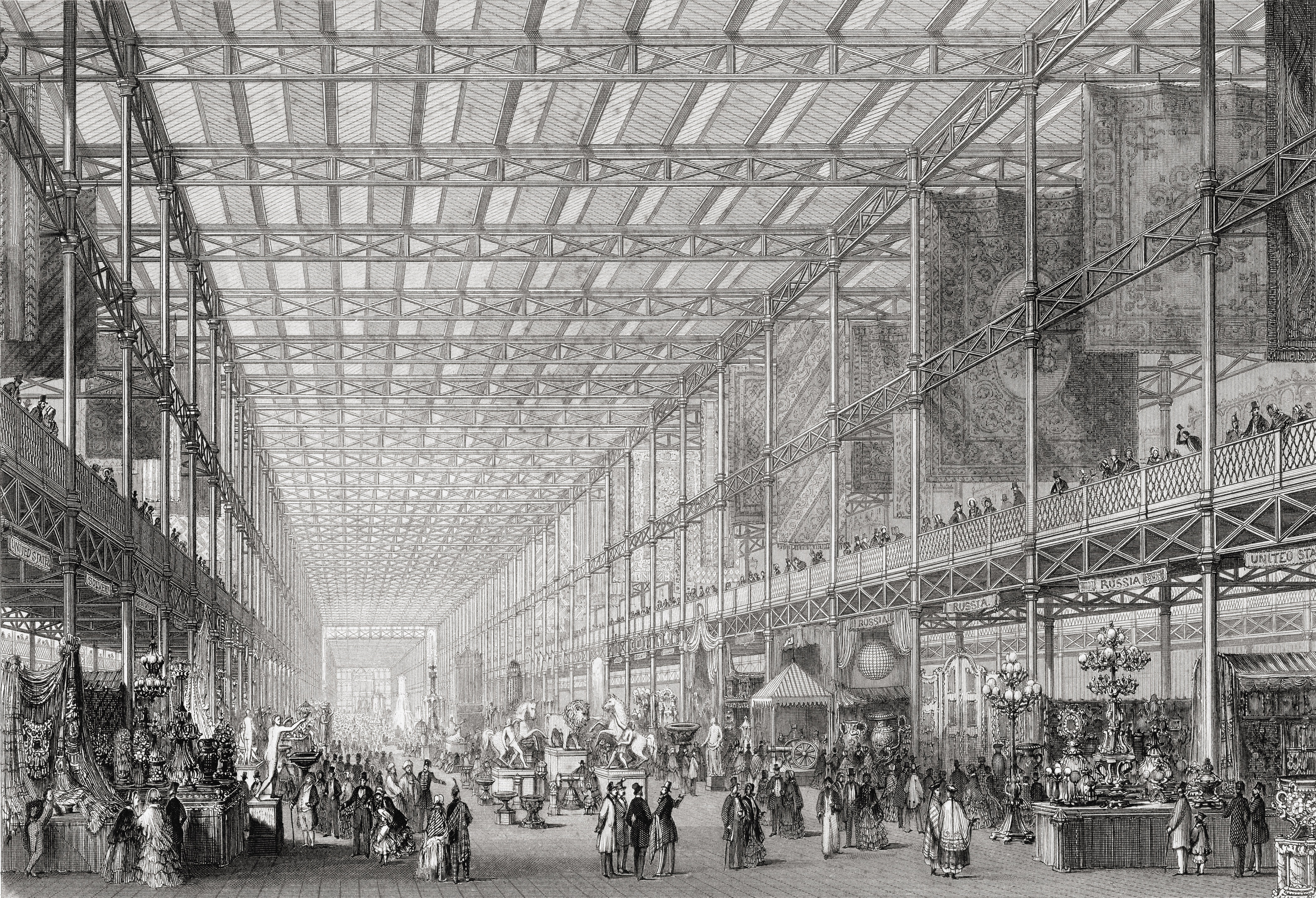 Interior Of The Great Exhibition Of The Works Of Industry Of All Nations In Hyde Park