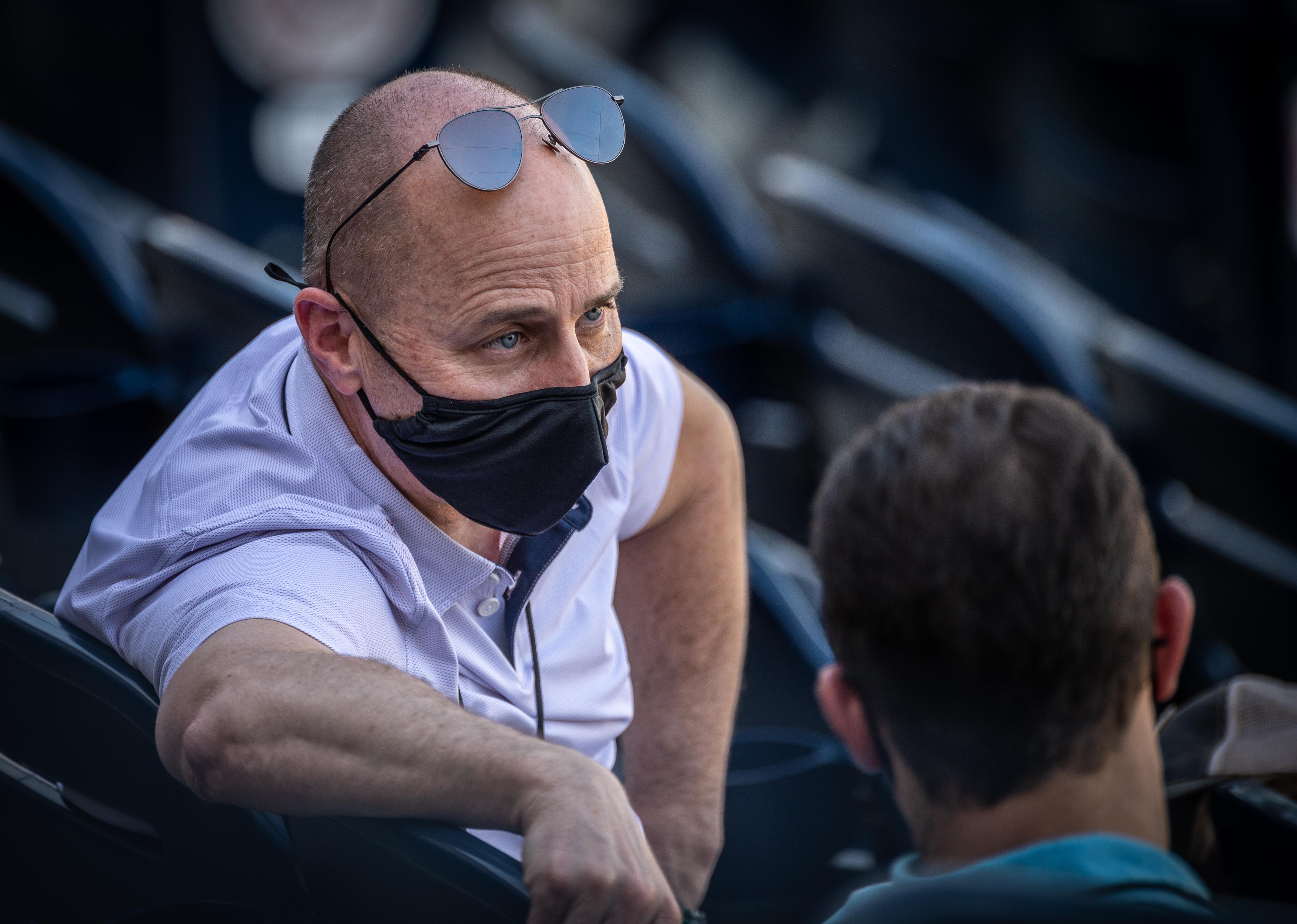 New York Yankees manager Brian Cashman at Spring Training