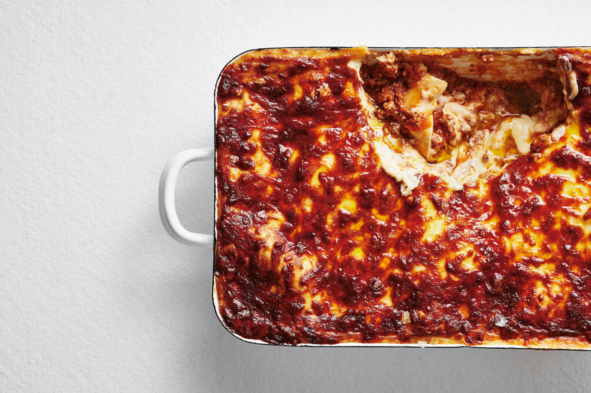 A dish of lasagna