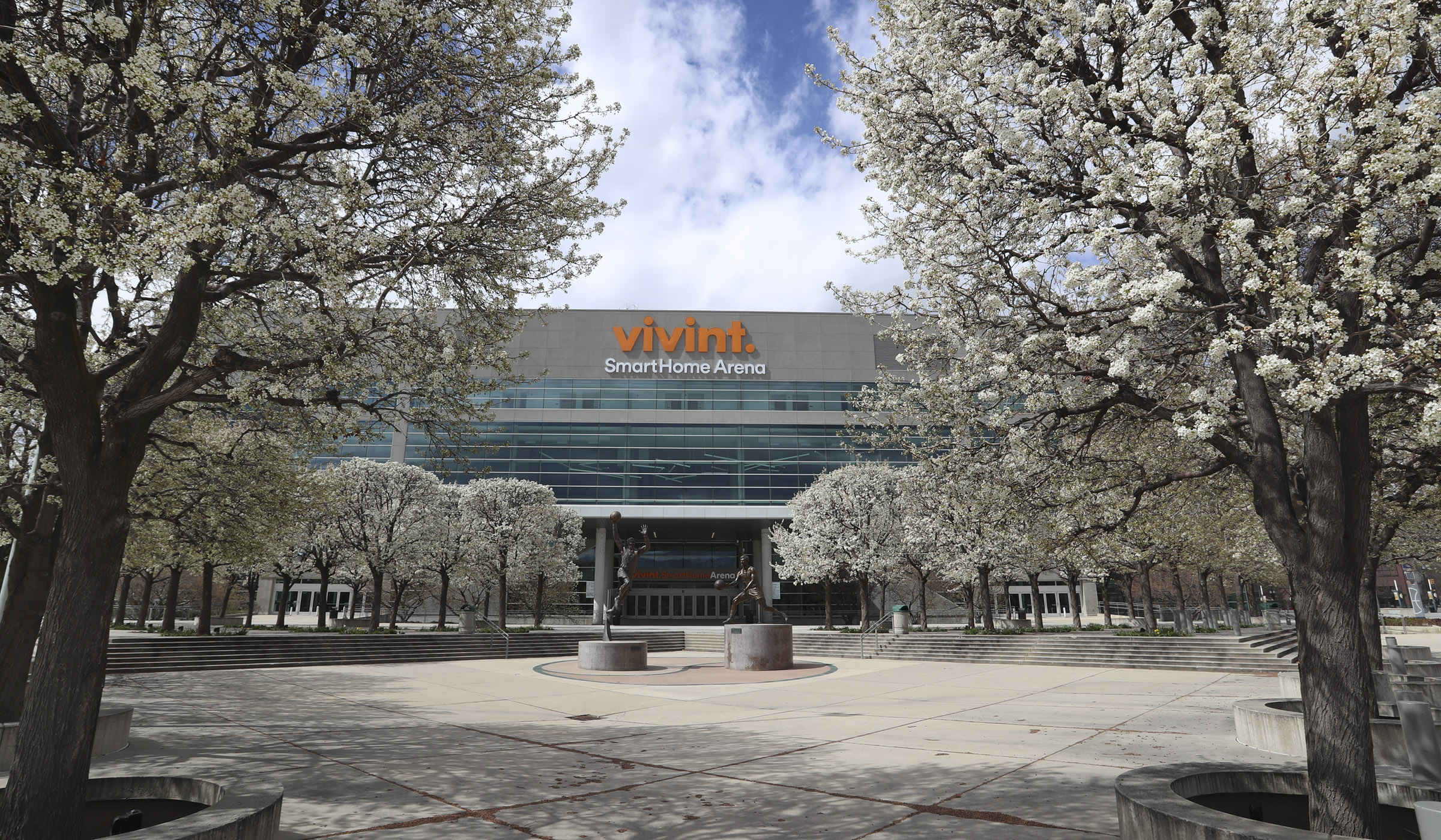 Vivint Smart Home Arena in Salt Lake City is pictured on March 31, 2020.