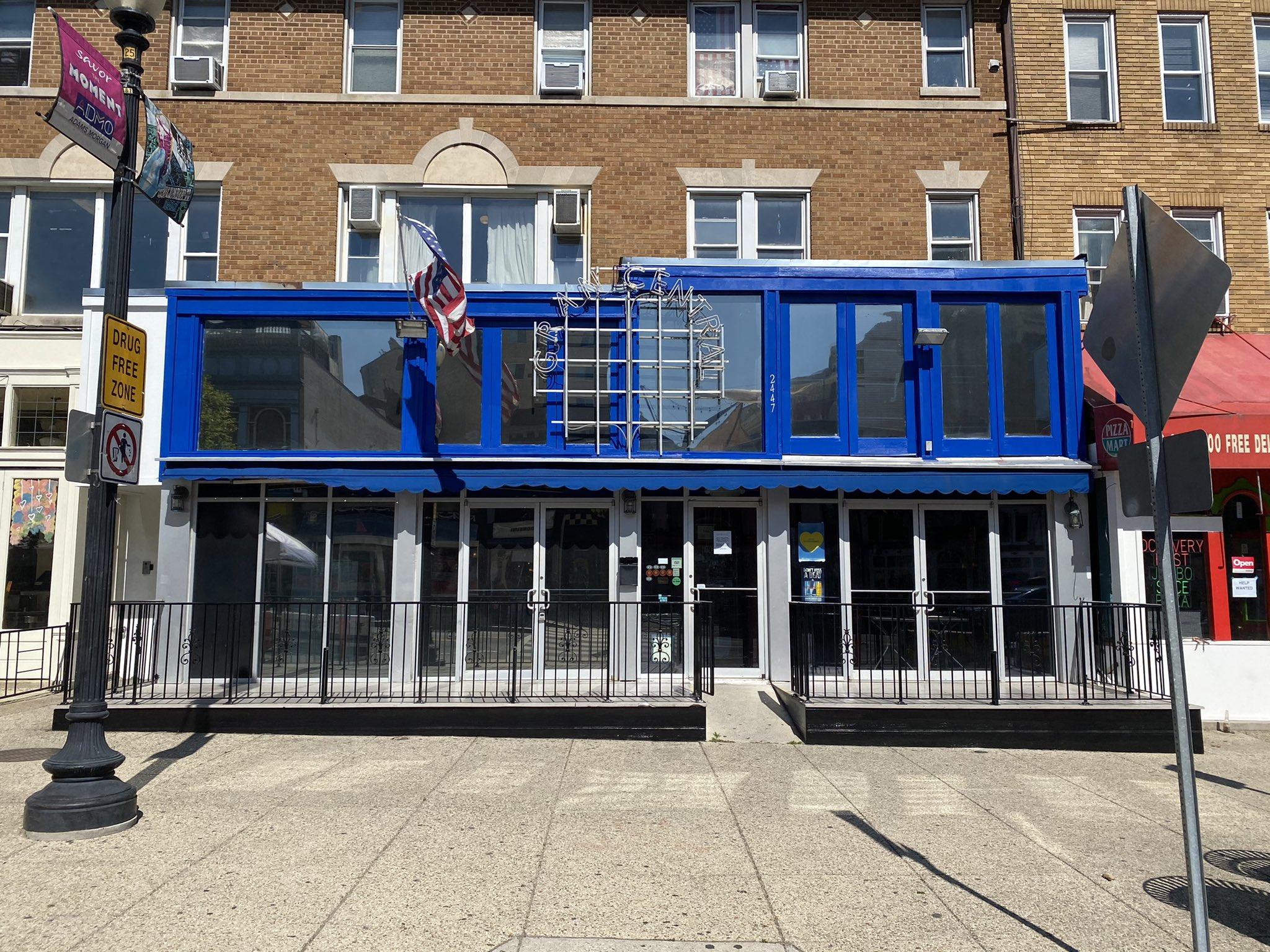 The facade at Grand Central sports bar in Adams Morgan
