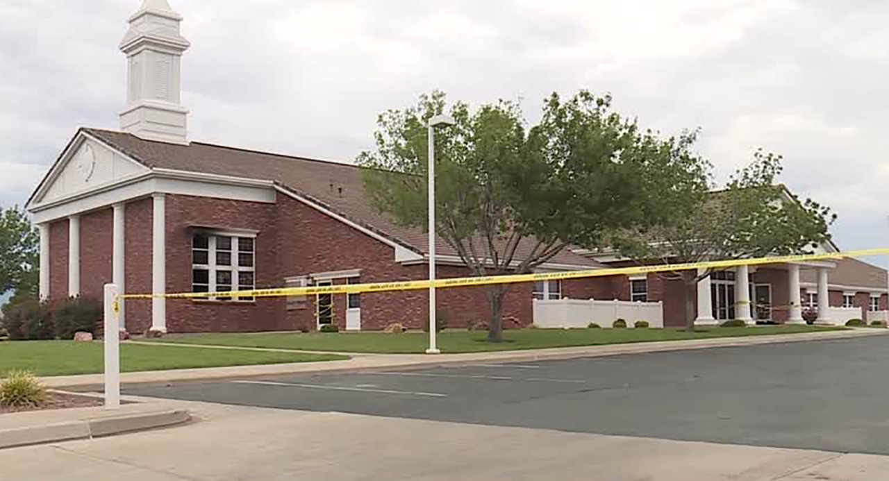 A meetinghouse of The Church of Jesus-Christ of Latter-day Saints in St. George is one of three damaged by fire Tuesday.