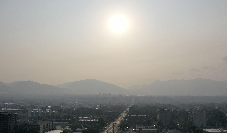 Smoky air in Salt Lake City.