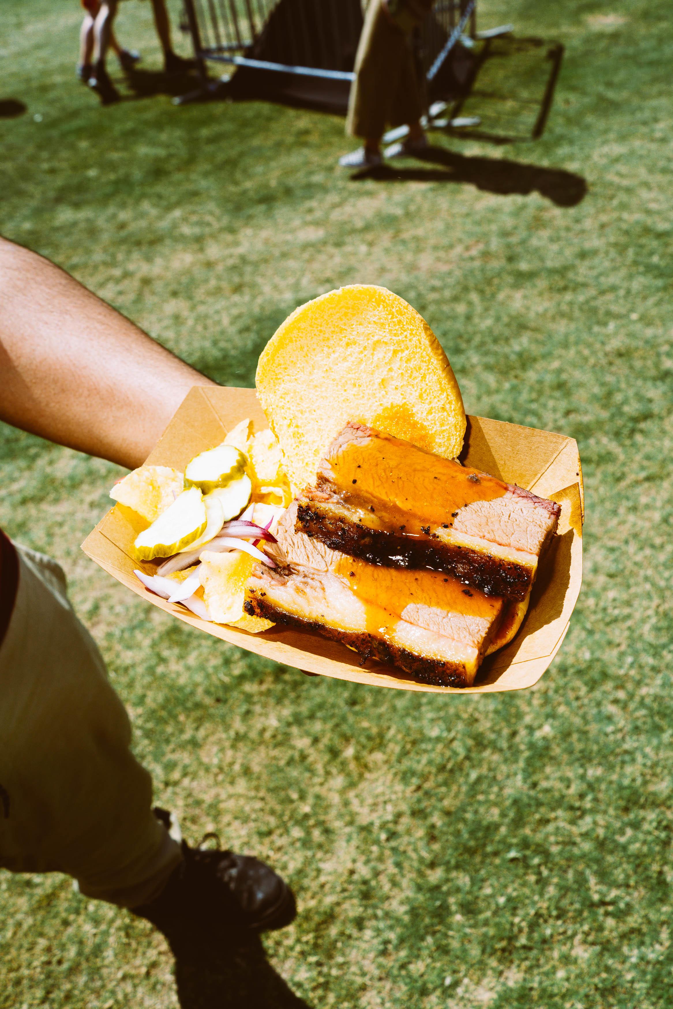 The brisket sandwich from Micklethwait Craft Meats