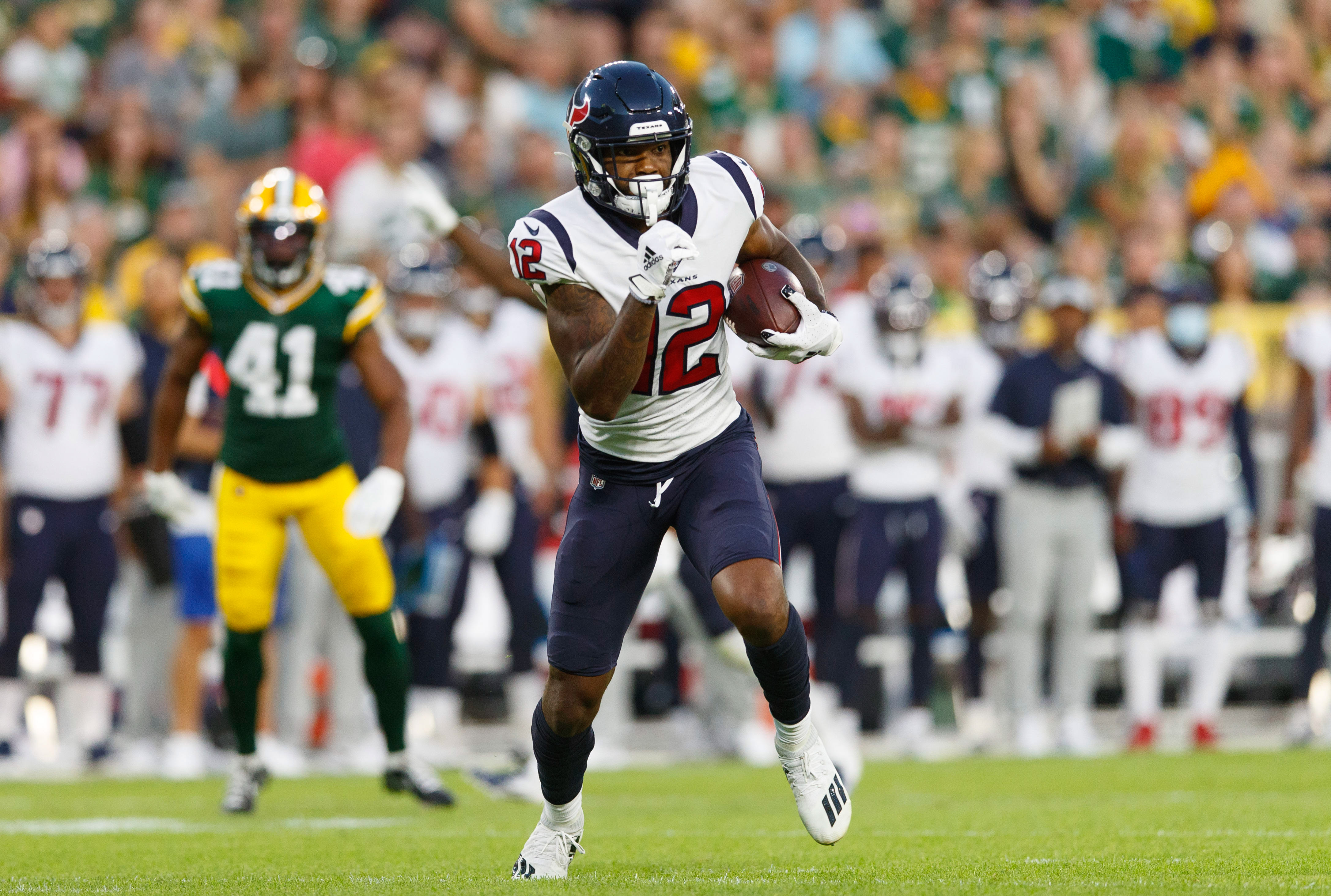 Houston Texans wide receiver Nico Collins (12) during the game against the Green Bay Packers at Lambeau Field.