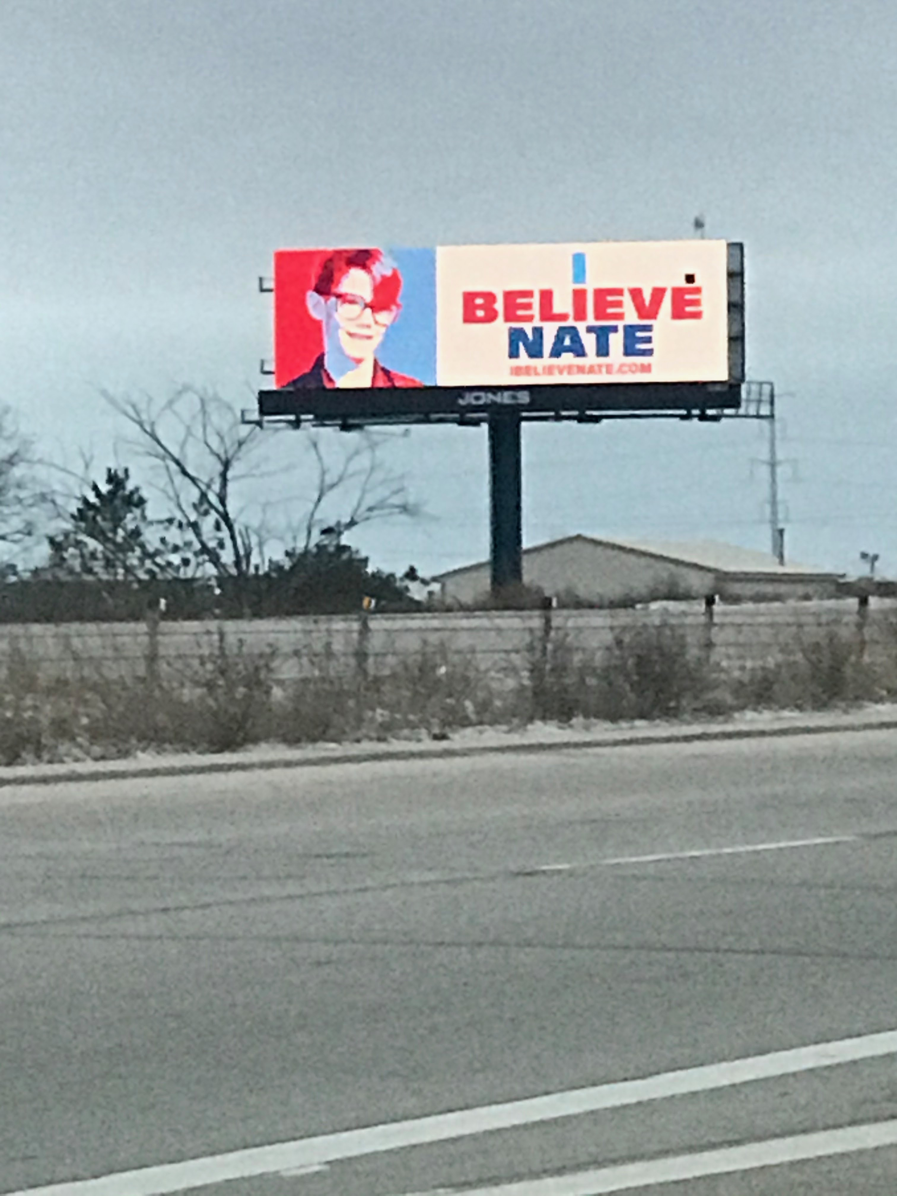 A billboard put up in the Green Bay, Wis., area by family and friends of Nate Lindstrom after his suicide. He'd told the order he was molested as a teenager by Norbertine priests, and the order gave him $400,000 in secret payments, though it never formally acknowledged he was abused.