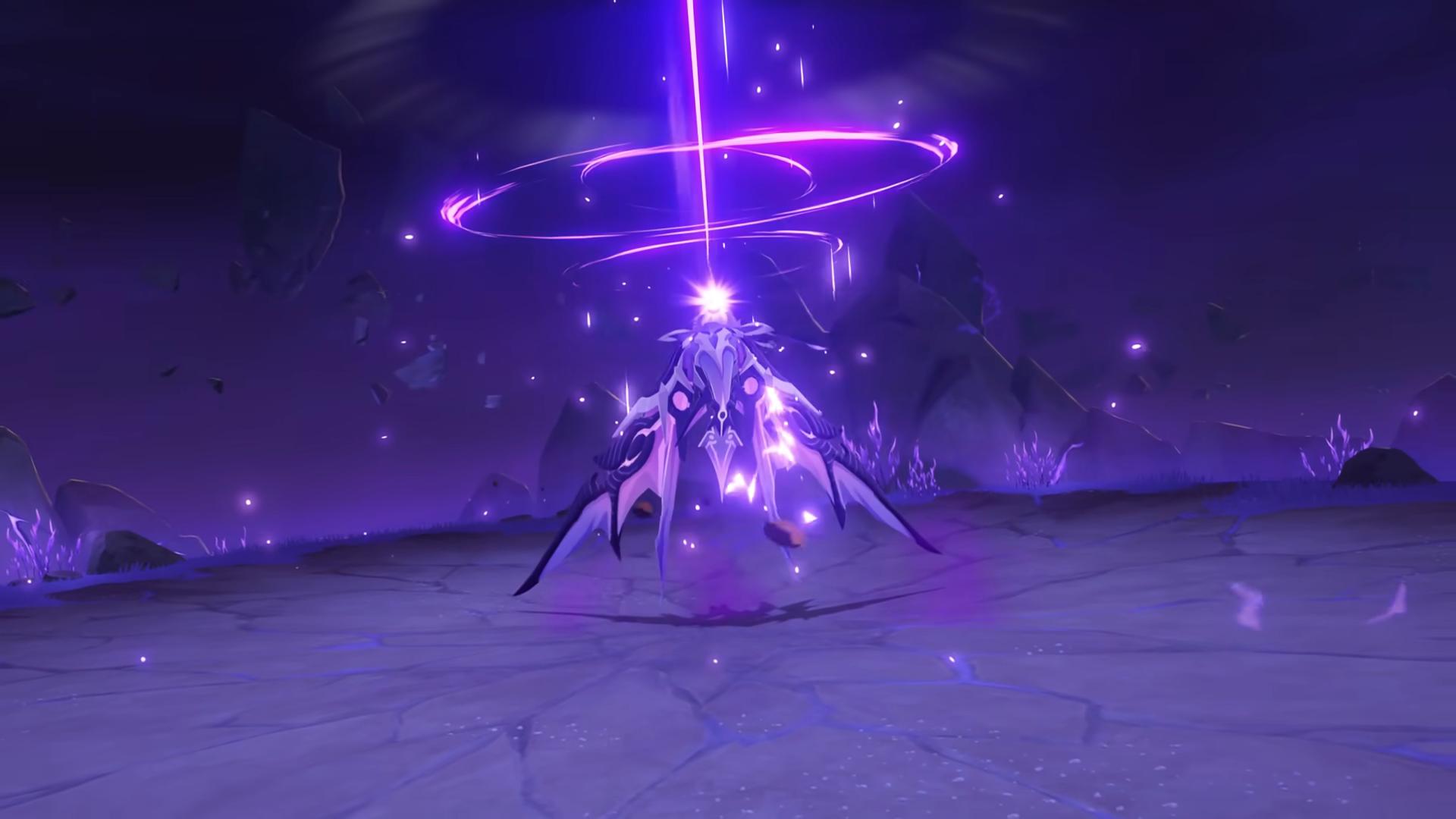 The Thunder Manifestation boss releases electro energy