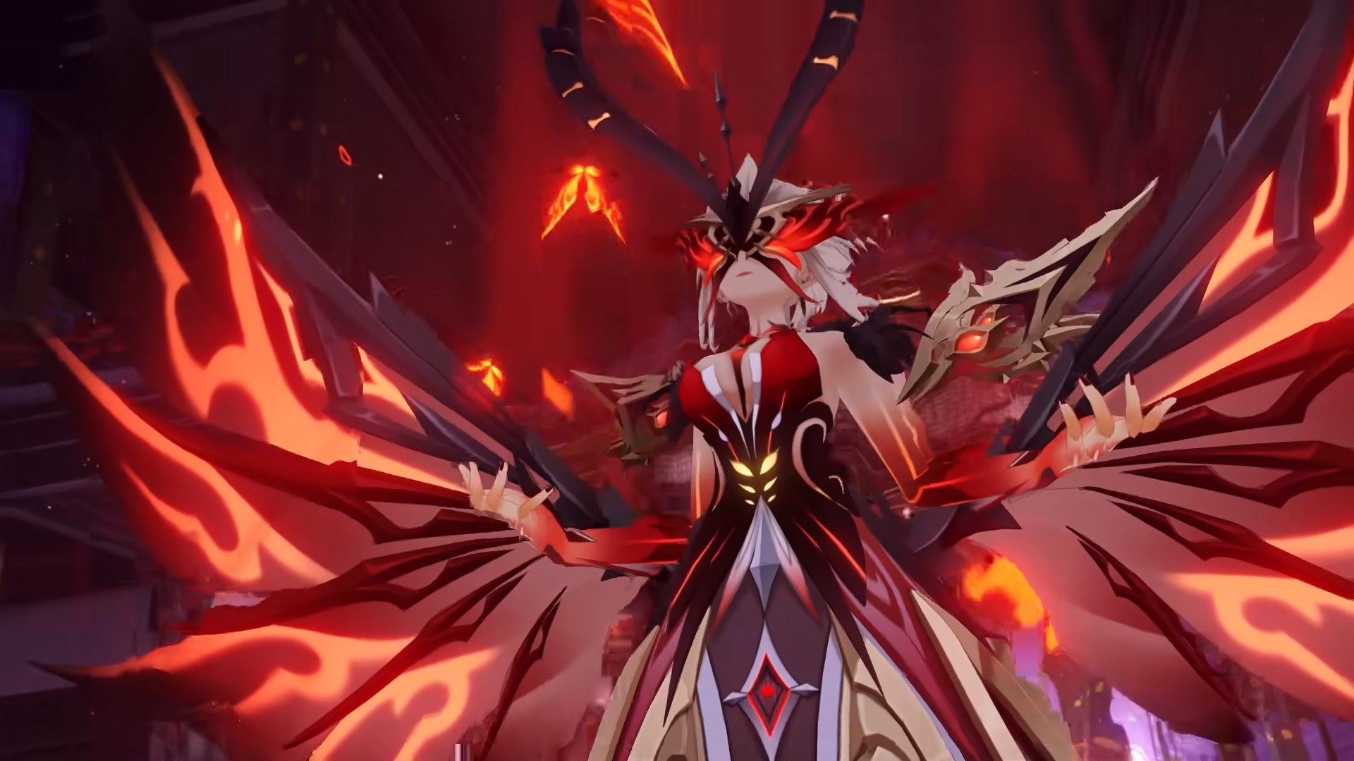 La Signora as her fire form in Genshin Impact