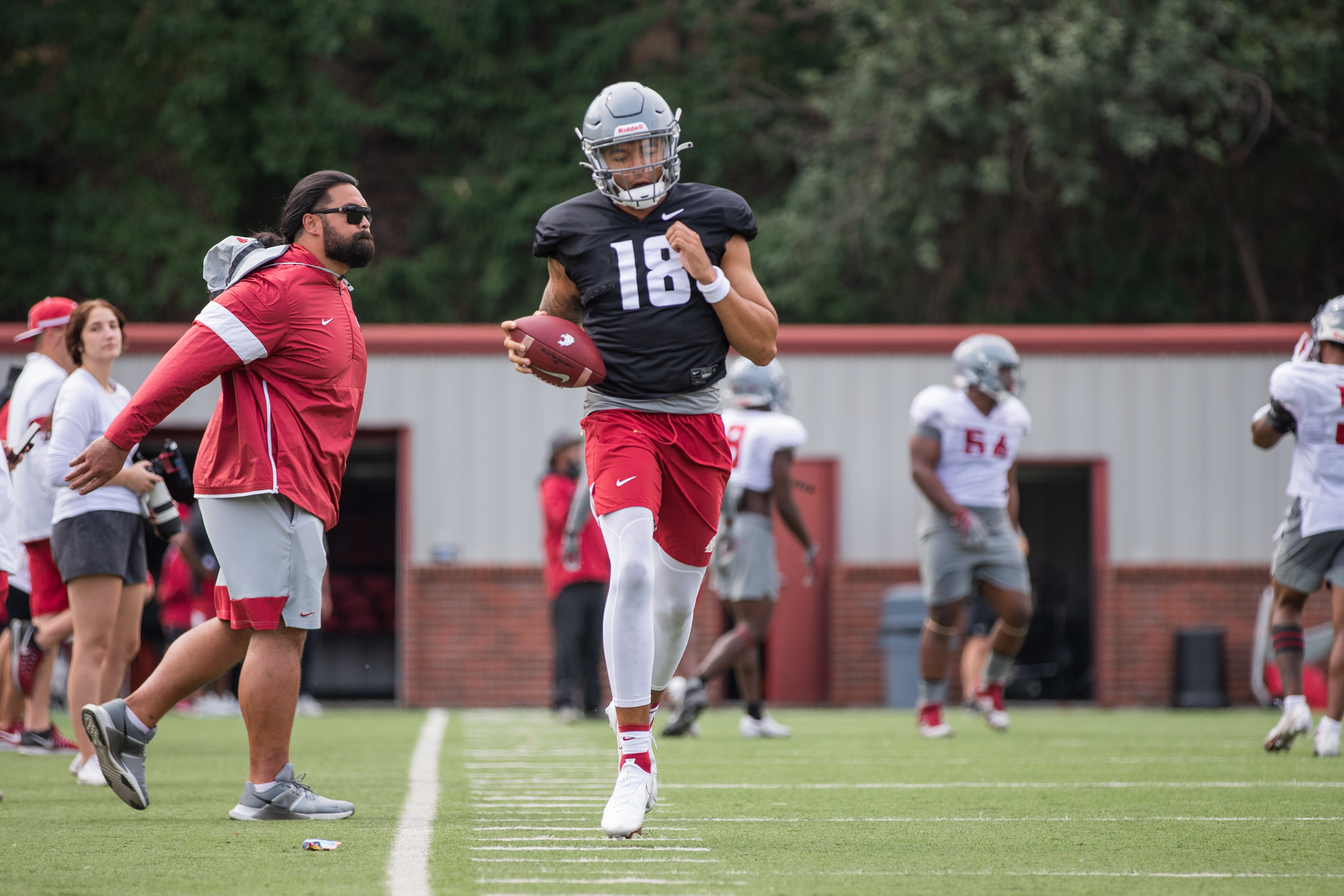 Washington State University Football Fall Practice 4 - Jarrett Guarantano (18)