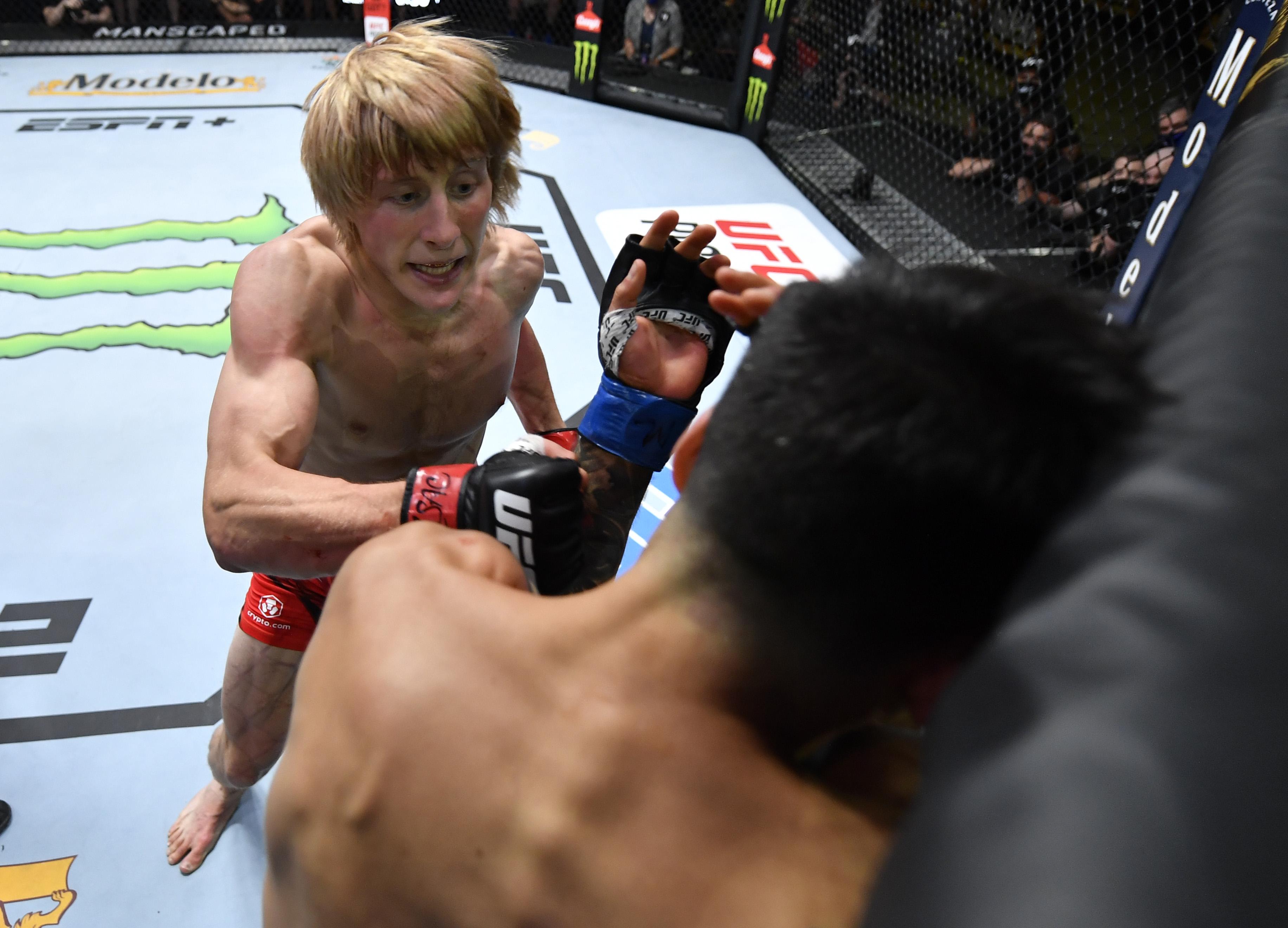 Paddy Pimblett knocked out Luigi Vendramini at UFC Vegas 36.
