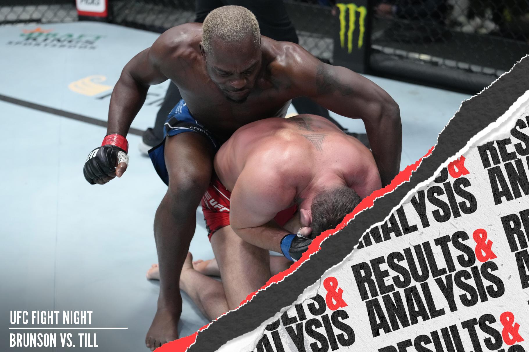 Derek Brunson beat up and submitted Darren Till at UFC Vegas 36.