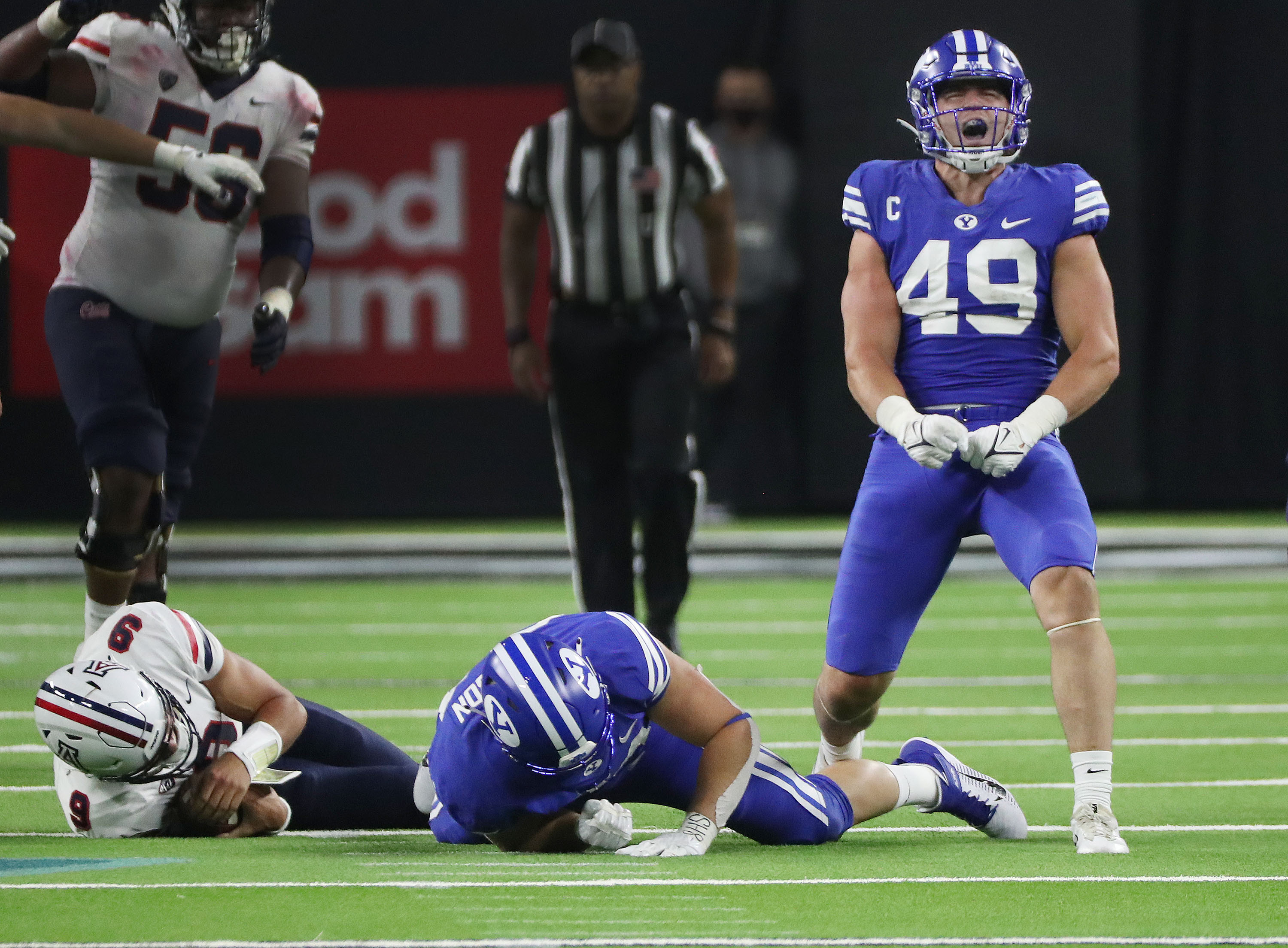 BYU's defense came up with four sacks against Arizona in a 24-16 win on Sept. 4, 2021, but missed tackles are a concern moving forward.
