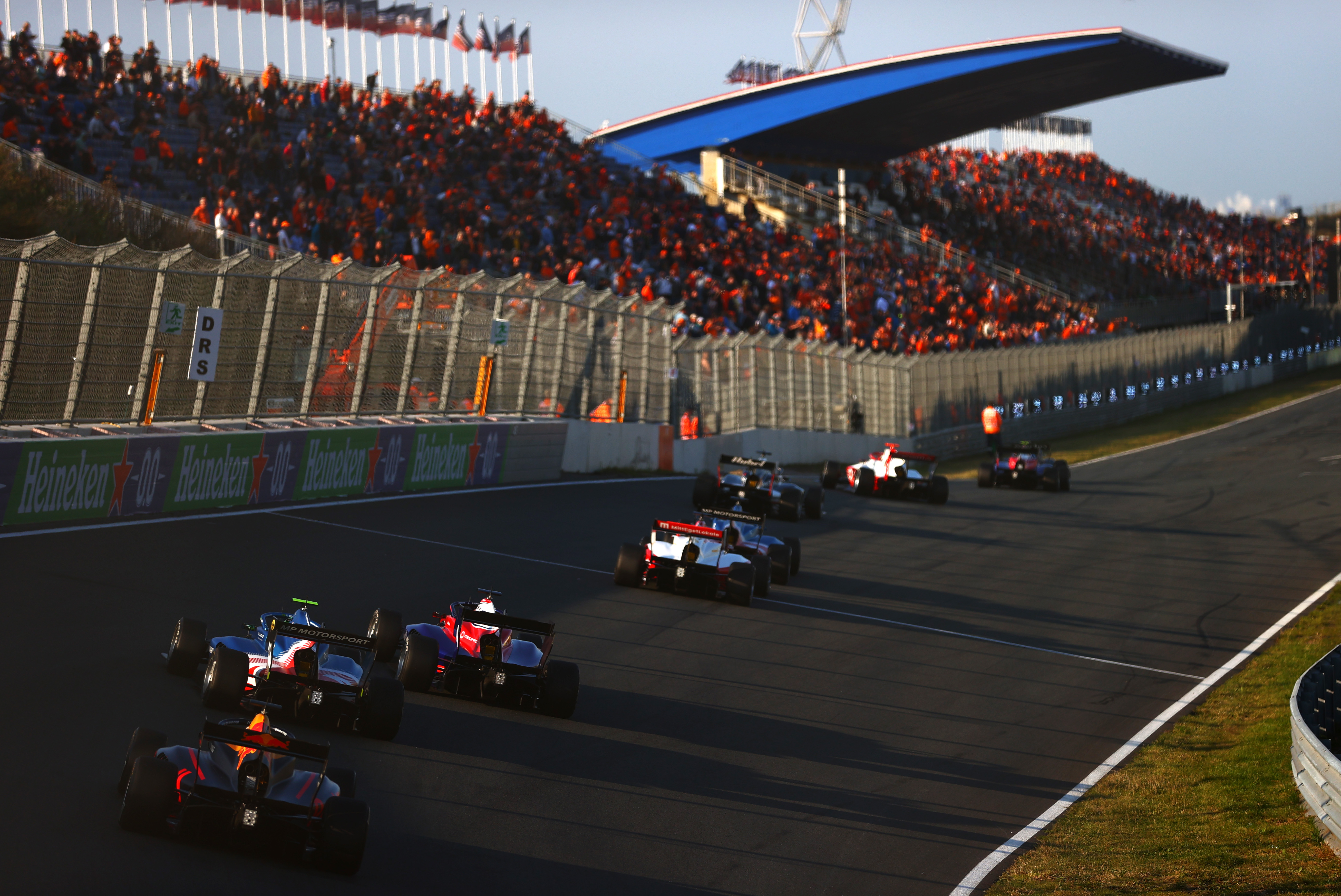 A general view of the action during race 2 of Round 6:Zandvoort of the Formula 3 Championship at Circuit Zandvoort on September 04, 2021 in Zandvoort, Netherlands.
