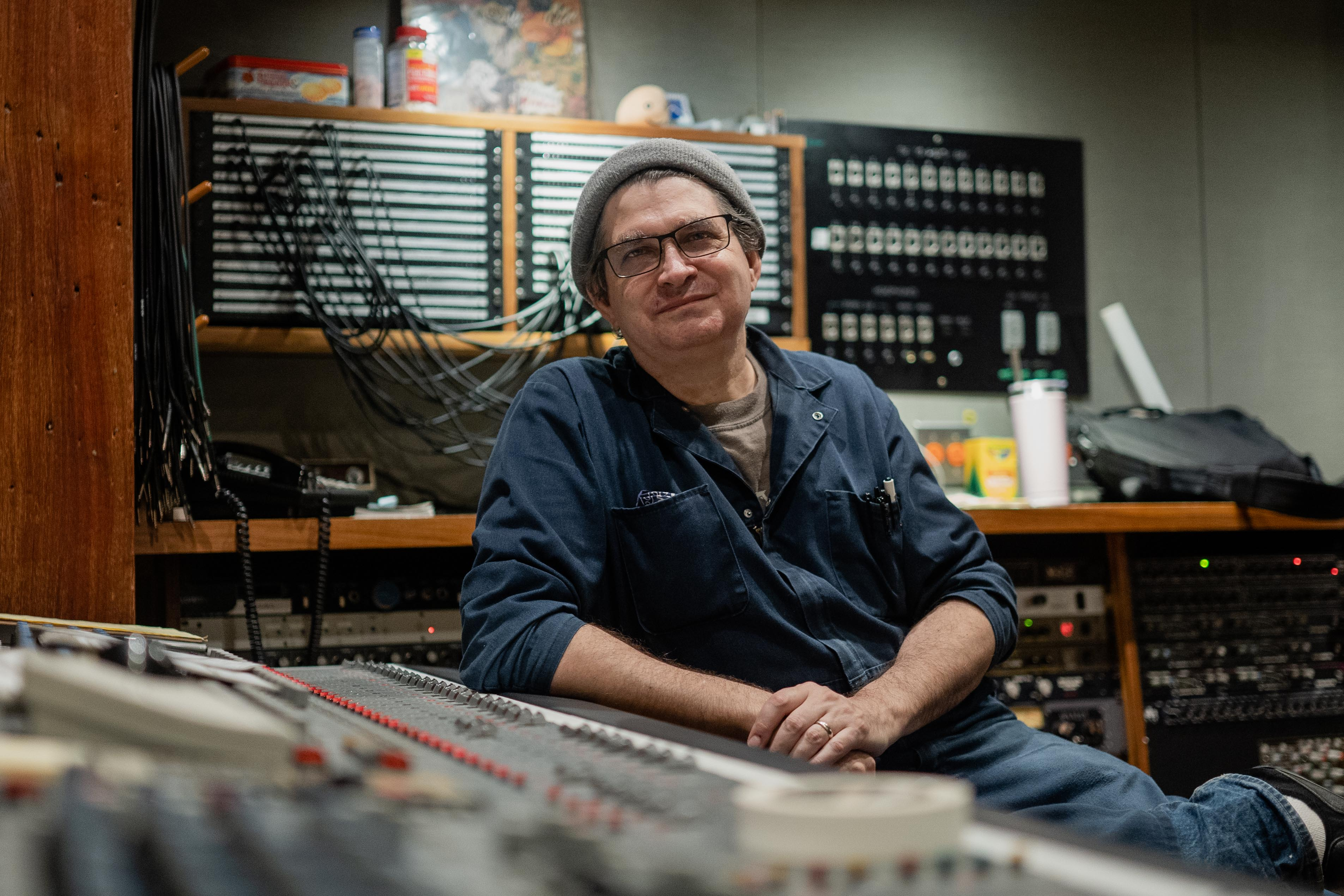 Steve Albini, a recording engineer, at his Electrical Audio studio in Chicago's Avondale neighborhood in August 2021.