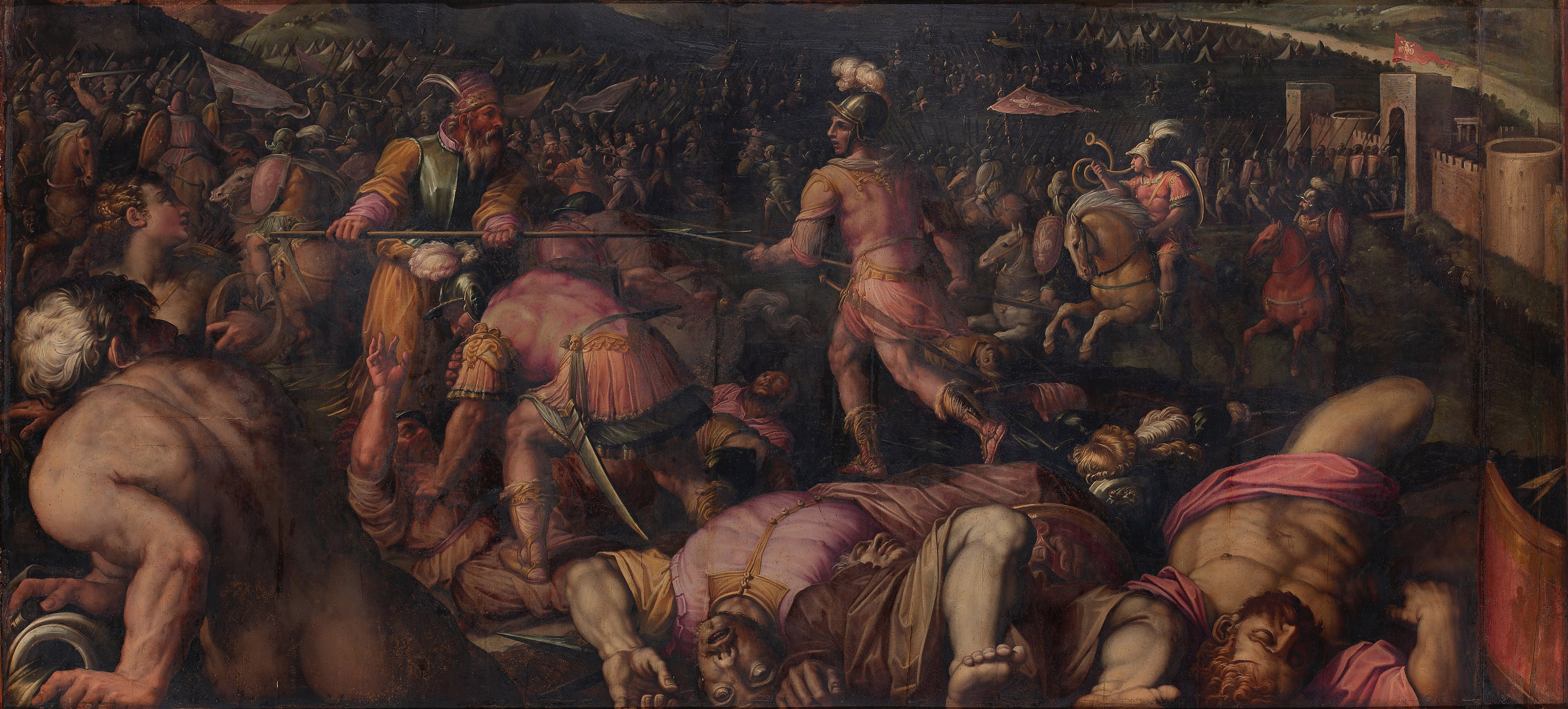 The Battle against Radagaisus at Faesulae in 406, 1563-1565. Found in the collection of the Palazzo Vecchio, Florence.