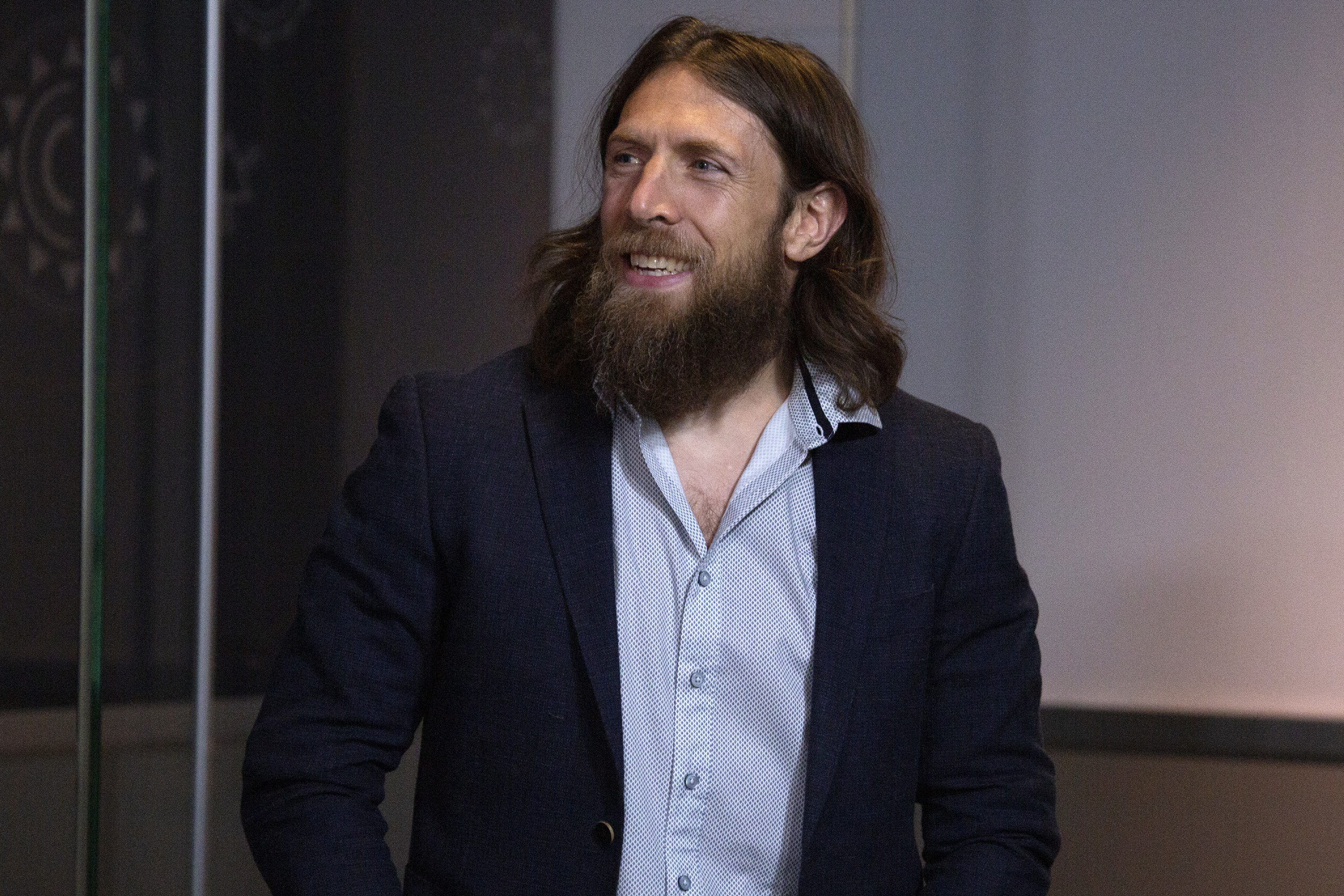 WWE Superstar Daniel Bryan Celebrate's Wrestlemania 35 at The Empire State Building on April 05, 2019 in New York City.