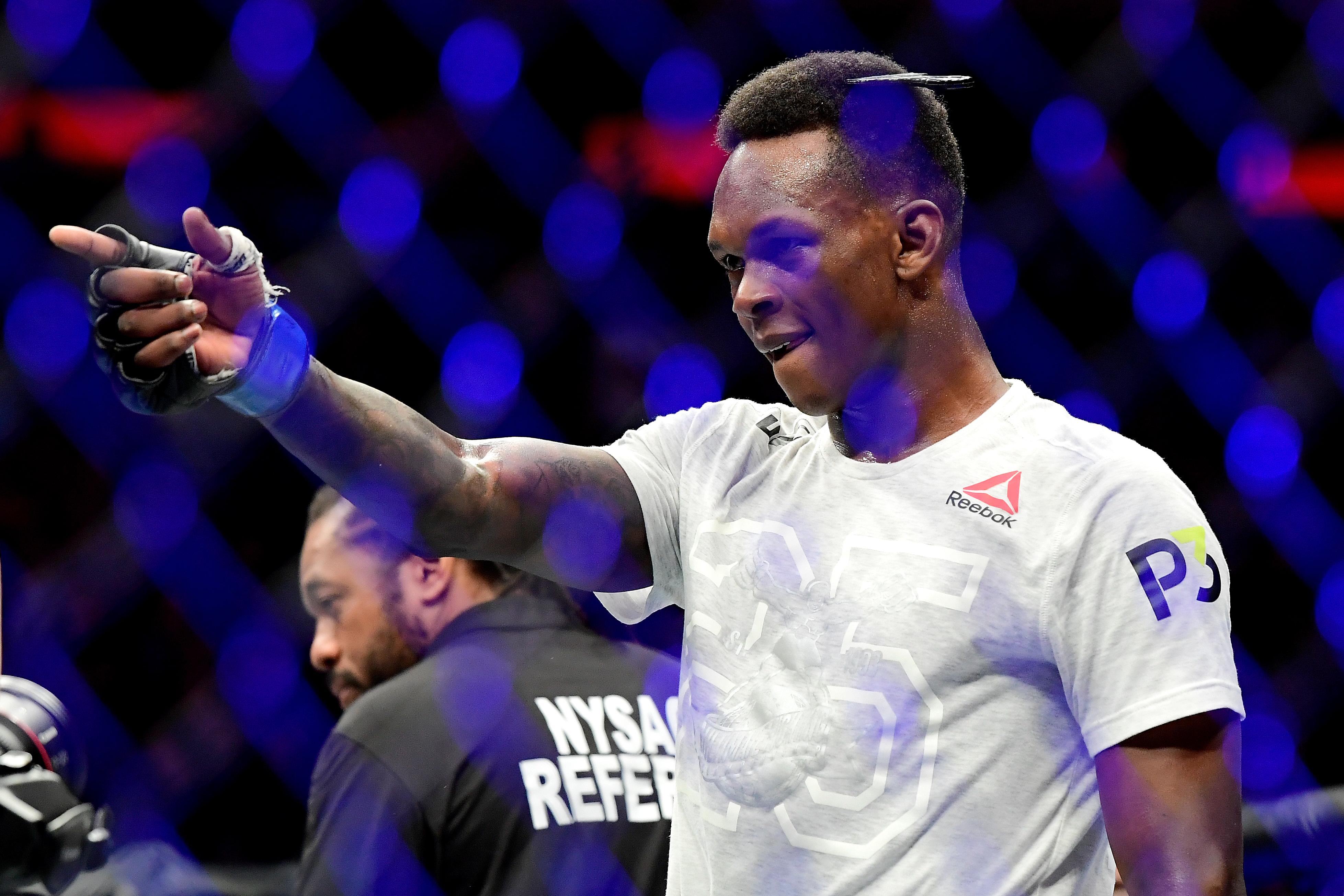 Israel Adesanya edmen shahbazyan UFC 244 Jorge Masvidal Nate Diaz Joe Rogan JRE Experience MMA News Video