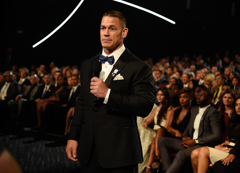 The 2016 ESPYS - Backstage And Audience John Cena Maria Kanellis