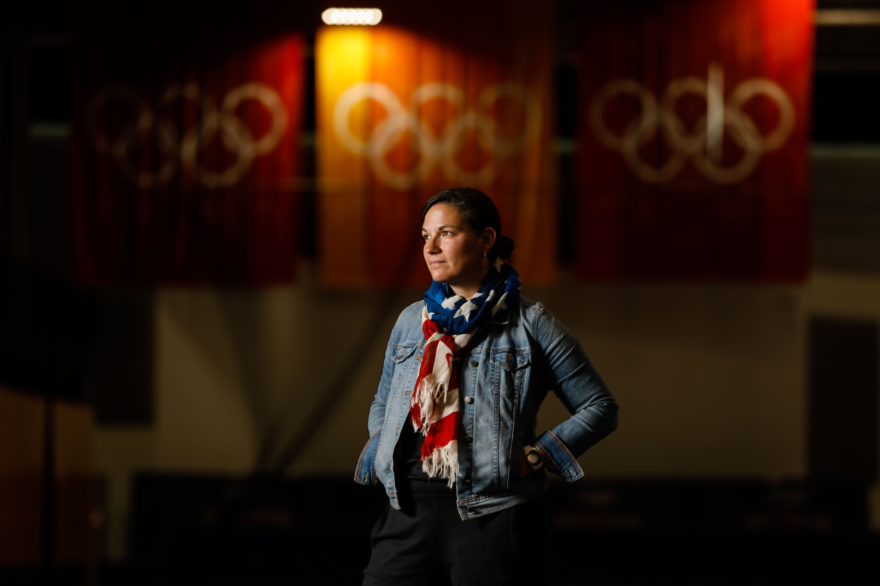Catherine Raney Norman, Olympic speedskater and Salt Lake City-Committee for the Games bid leader, poses for a portrait at Utah Olympic Oval in Kearns on Saturday, Aug. 28, 2021.