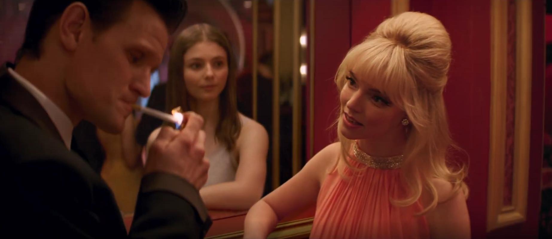 Anya Taylor-Joy, Thomasin McKenzie, and Matt Smith in Last Night in Soho